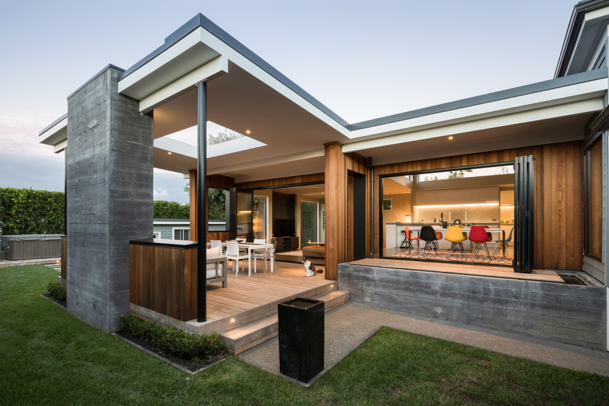 Winner – Creative Arch – 2018 TIDA New architecture, courtyard, estate, home, house, interior design, patio, property, real estate, brown, white
