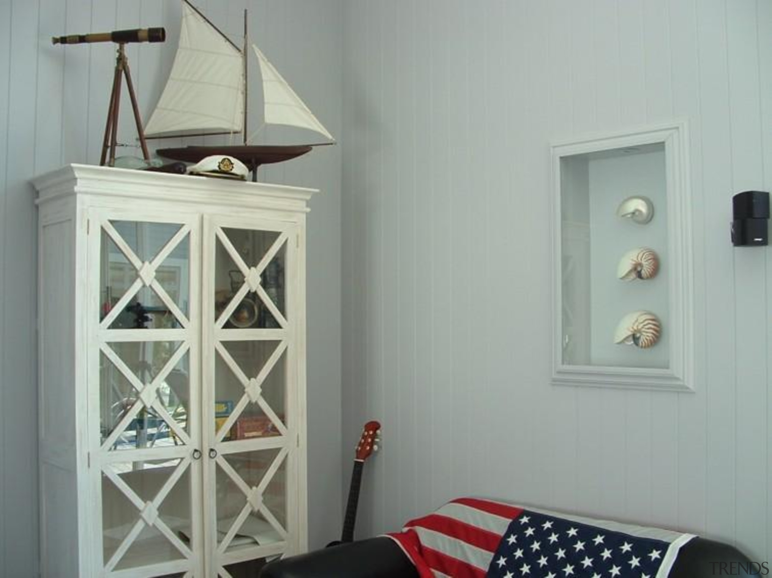 Longbeach Home 5 - furniture | home | furniture, home, interior design, light fixture, room, shelf, shelving, wall, gray