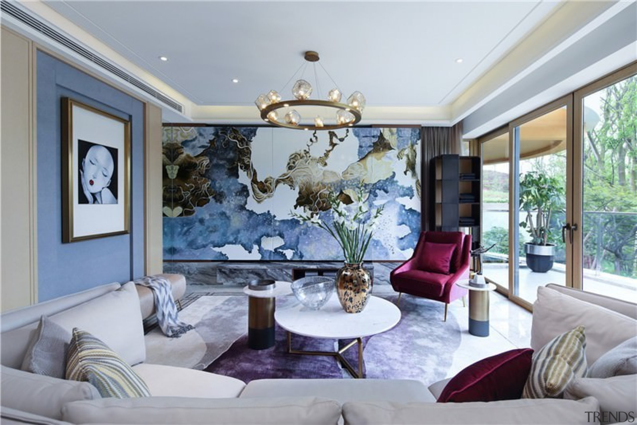 A feature wall unlike any other dominates the ceiling, estate, home, house, interior design, living room, property, real estate, room, window, gray