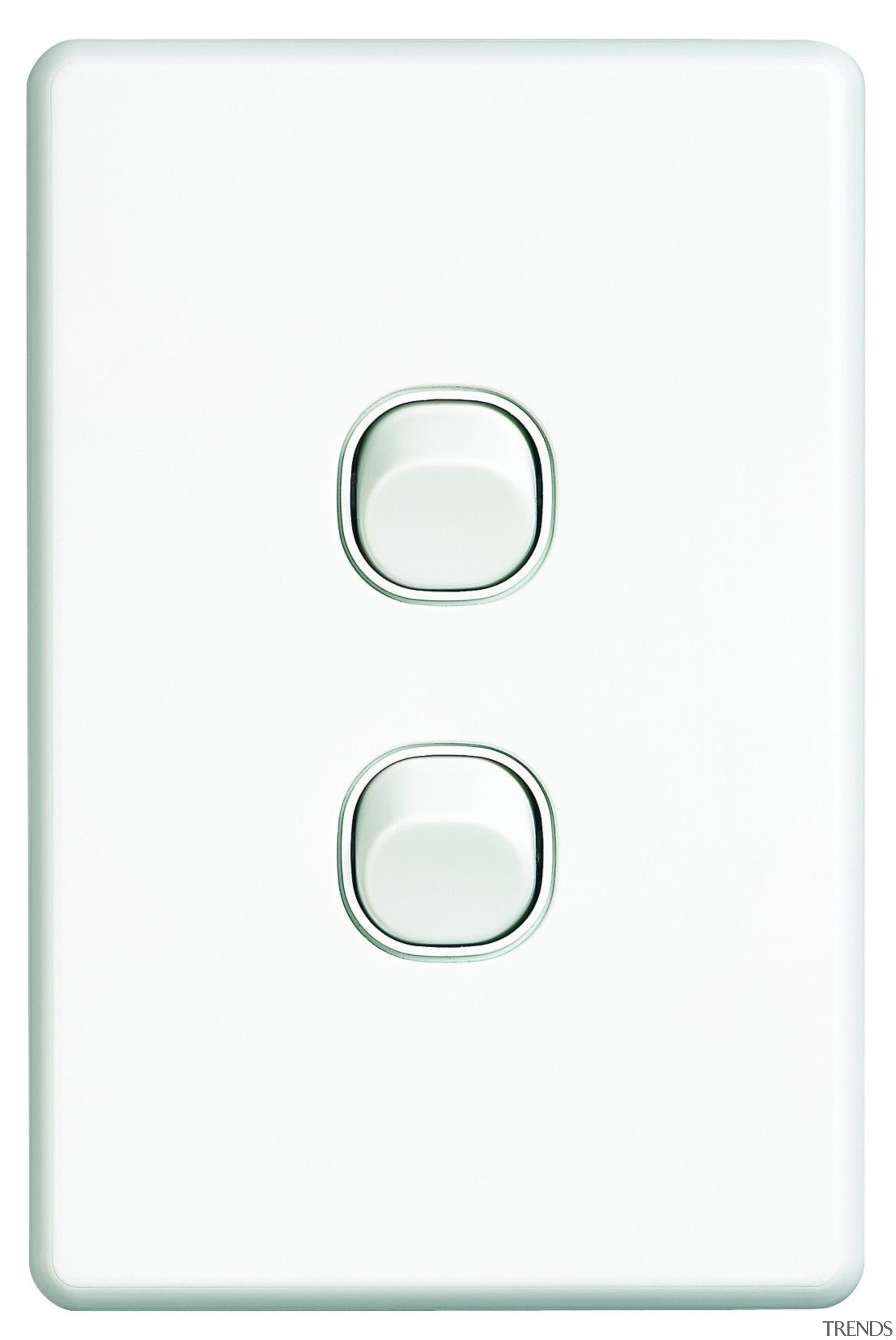 Slimline Series double switch White - SC2032 - light switch, product, switch, technology, white