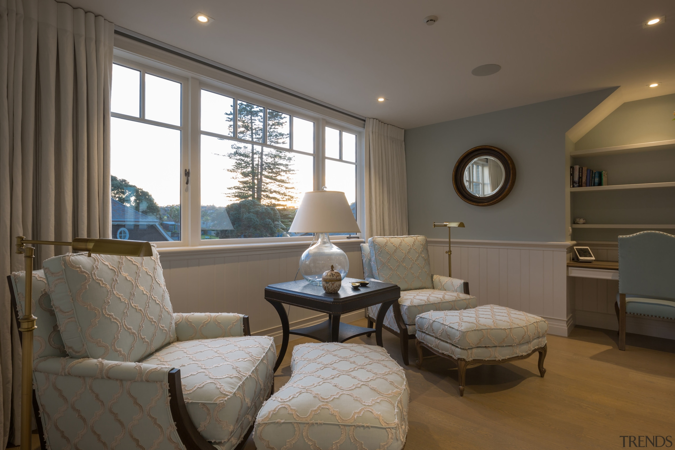 This day room forms part of a master ceiling, floor, home, interior design, living room, real estate, room, window, gray