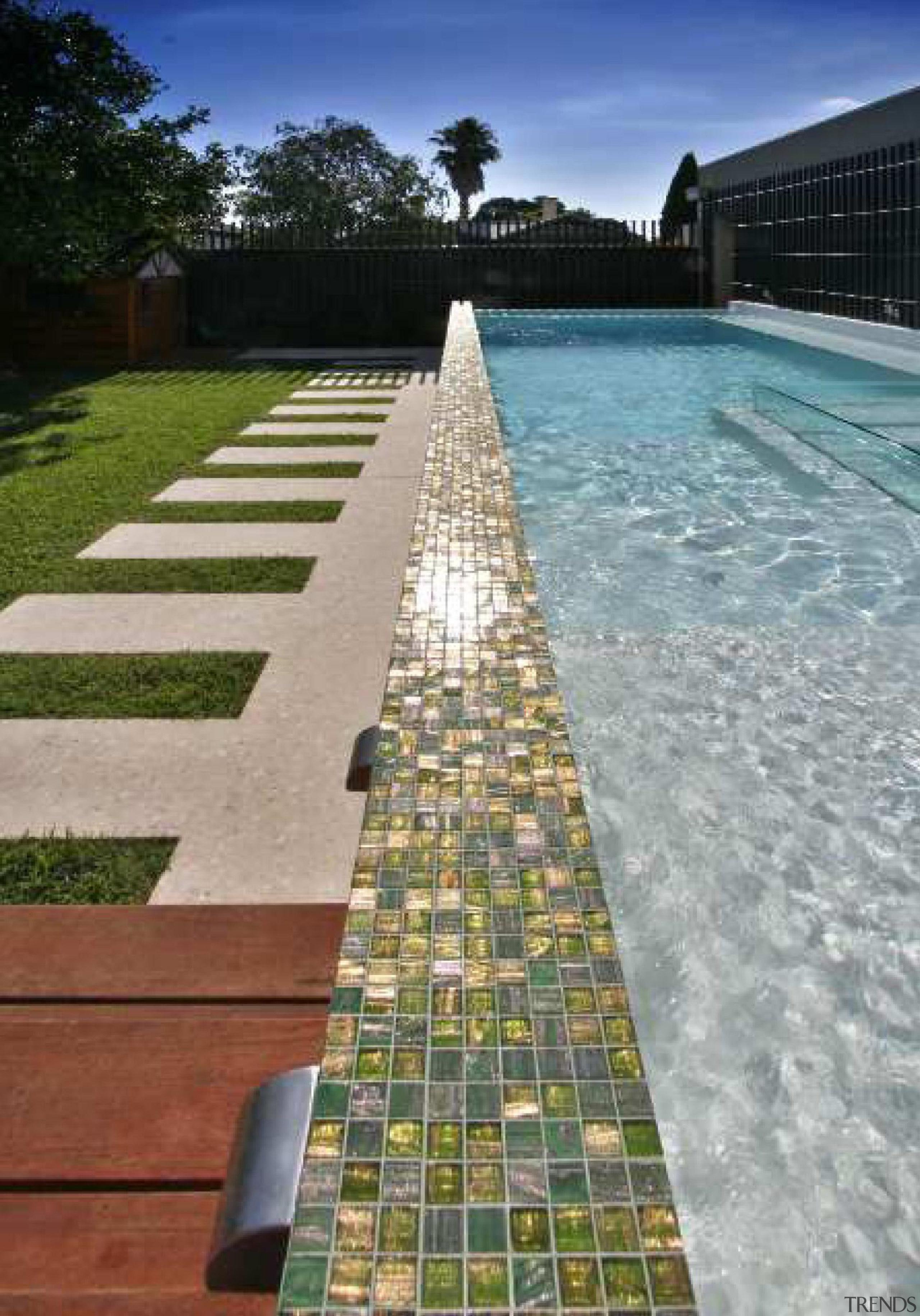 Bisazza swimming pools australia-le gemme - Bisazza Range reflecting pool, swimming pool, walkway, water, gray