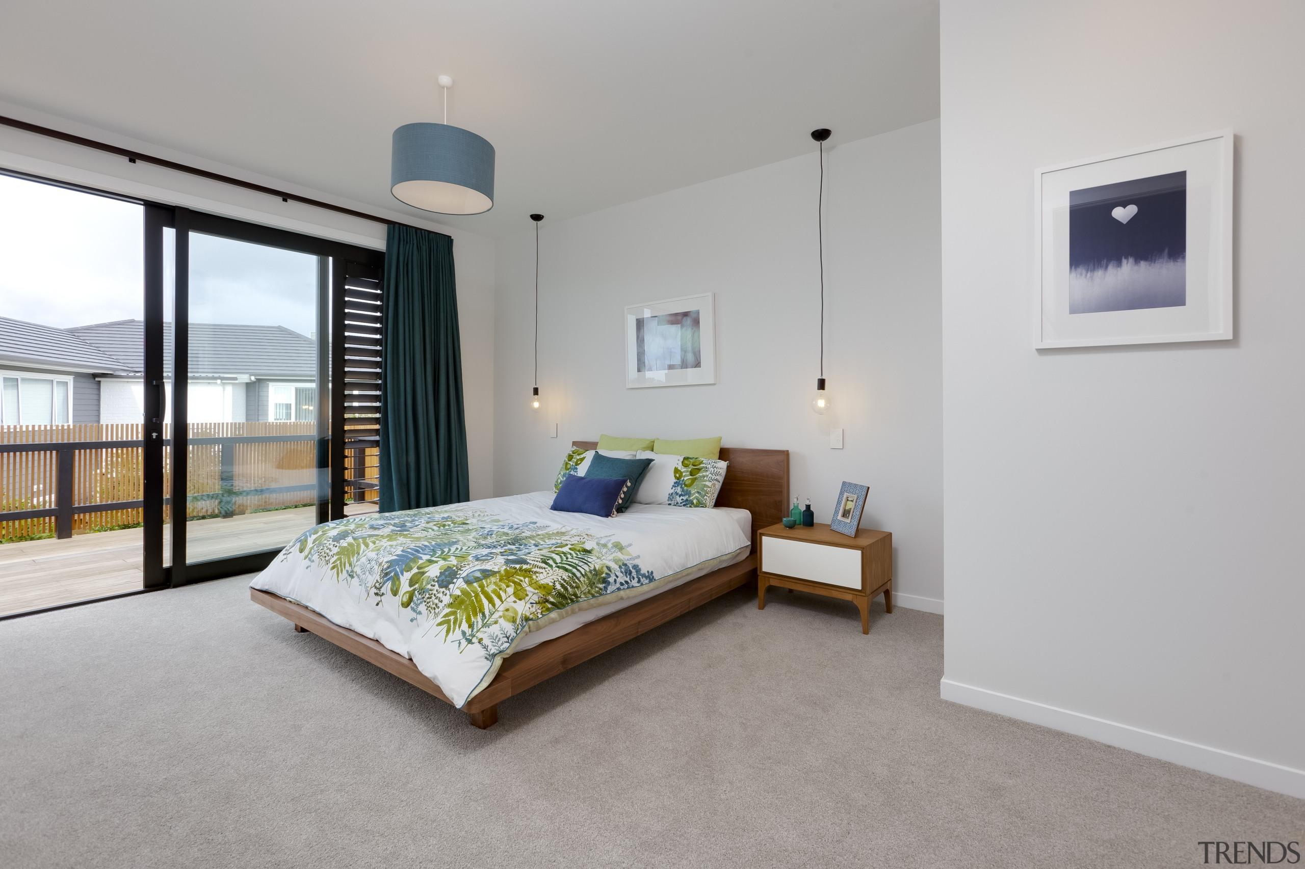 Landmark Homes Design & Build Master Bedroom - bed frame, bedroom, ceiling, estate, floor, home, interior design, property, real estate, room, window, gray