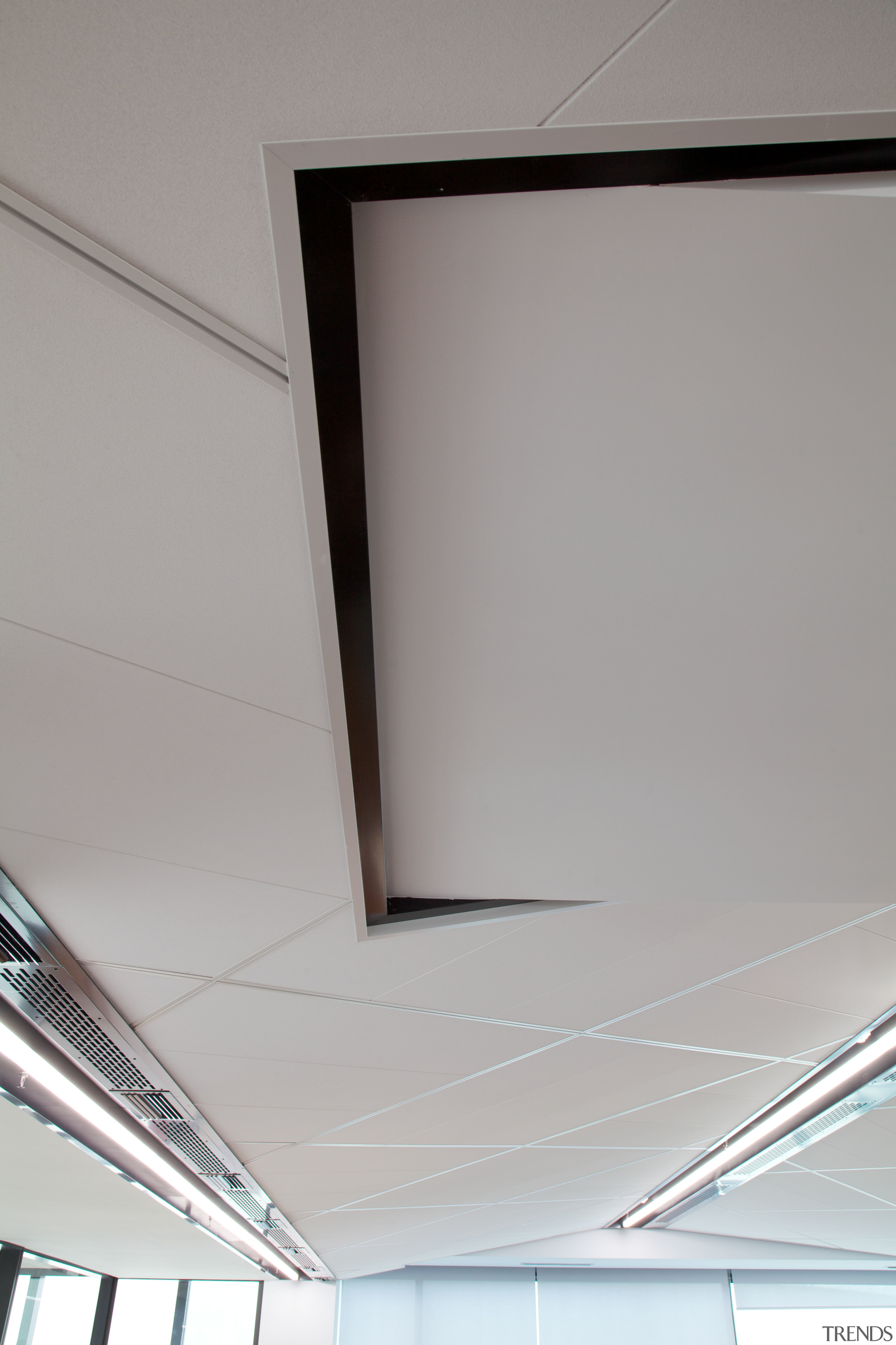 Above and beyond  the new Genesis Energy angle, architecture, ceiling, daylighting, glass, light, line, product design, window, gray