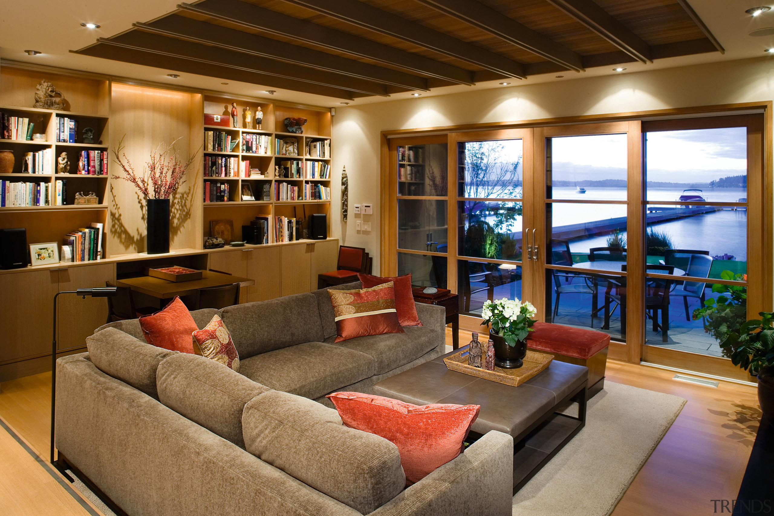 view of the formali living area looking out ceiling, home, interior design, living room, real estate, room, window, brown