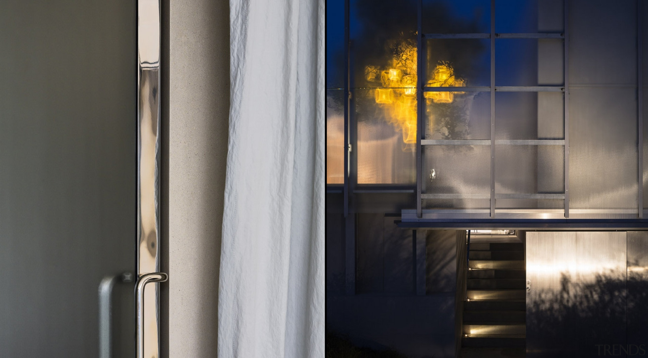 Winner of the Villa Category at the World interior design, window, gray, black
