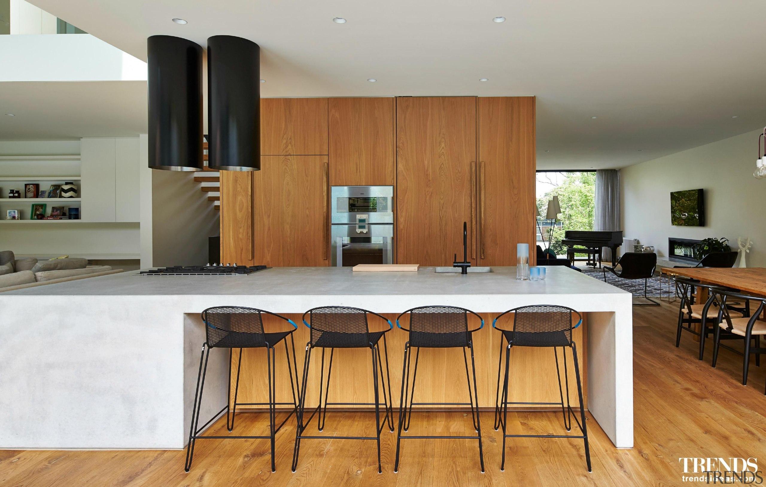 DKO Architecture - countertop | floor | flooring countertop, floor, flooring, hardwood, interior design, kitchen, property, real estate, room, table, wood, wood flooring, gray
