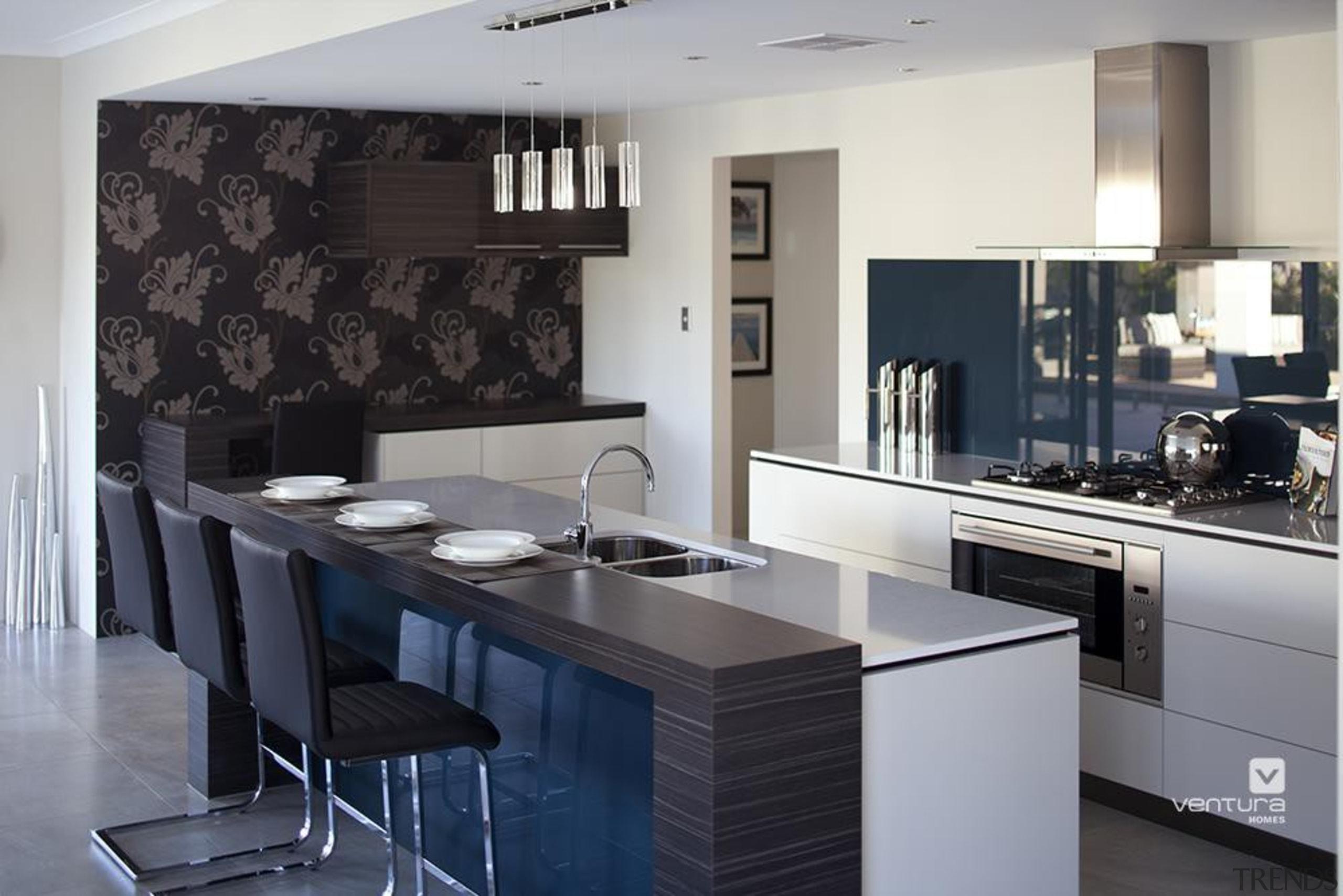 Kitchen design. - The Sentosa Display Home - countertop, interior design, kitchen, room, gray, black