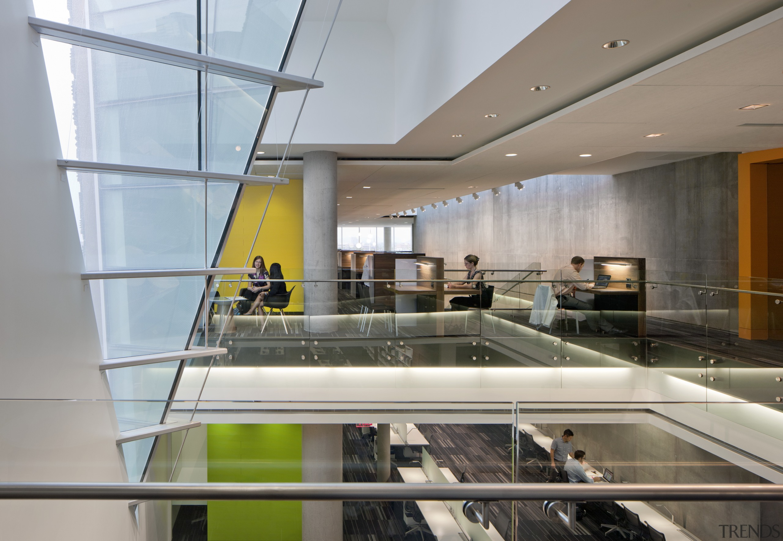 On the Health Sciences Education Building project, the architecture, glass, interior design, gray