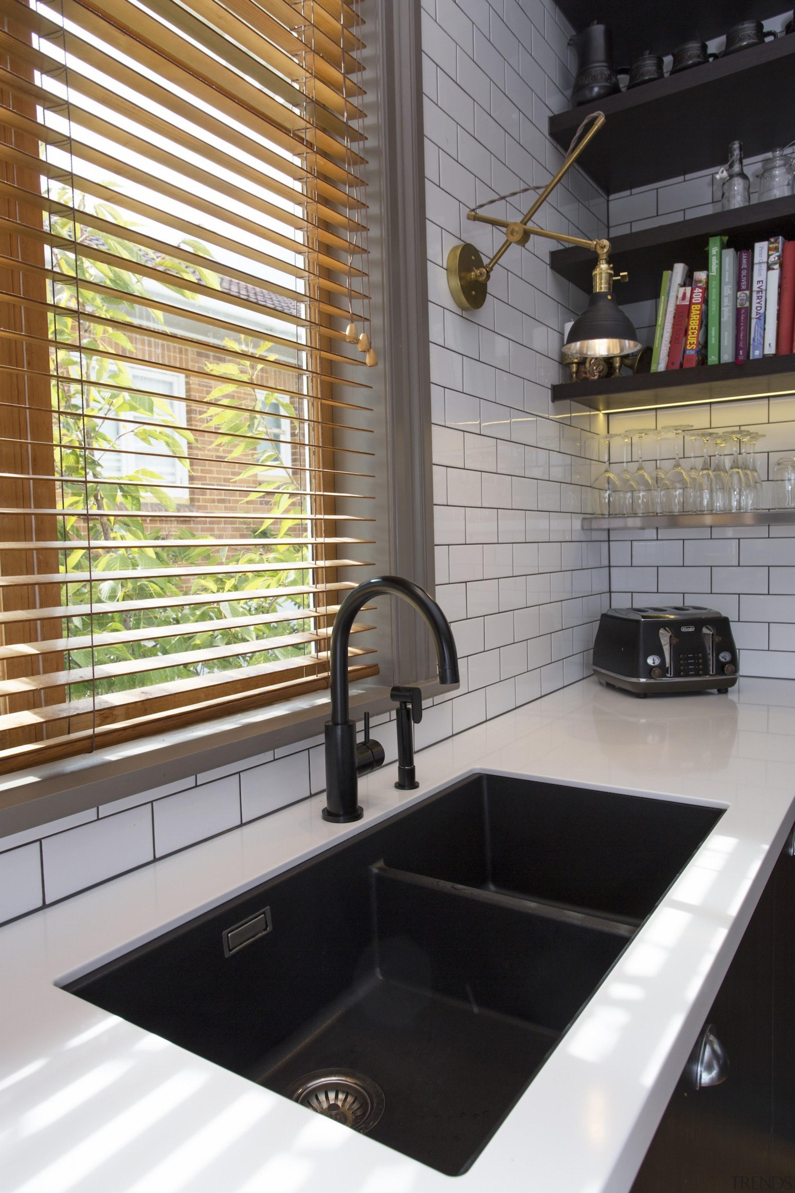 TIDA NZ 2017 – Designer kitchen entrant – bathroom, countertop, flooring, interior design, room, sink, tile, gray, black