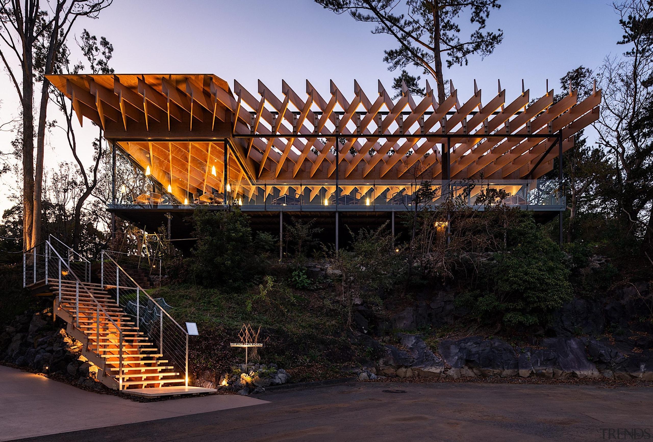 Designed by Kengo Kuma Architects, Mikuni Izu kogen black