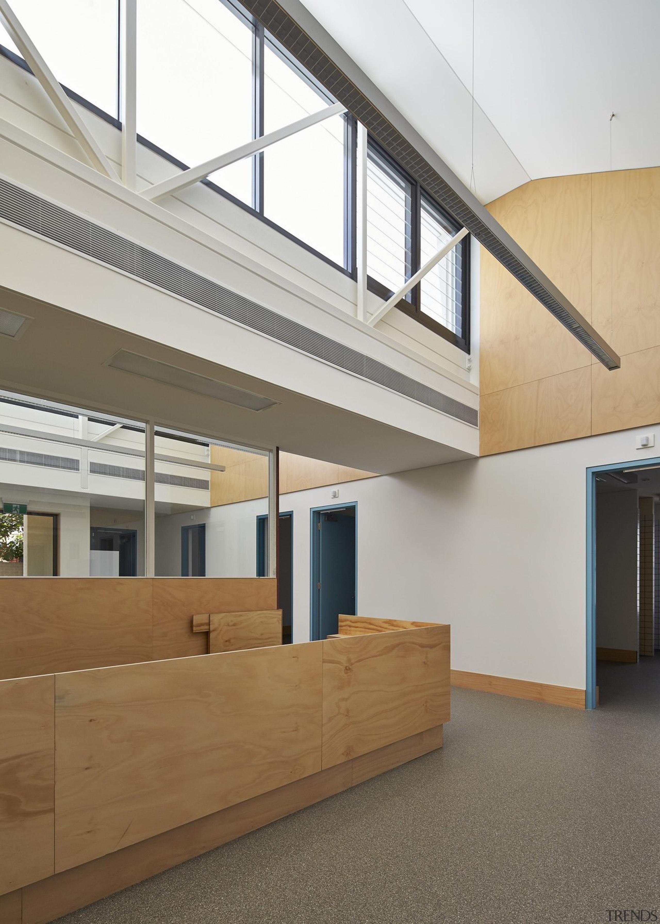 Tom Fisher House - Tom Fisher House - architecture, daylighting, floor, house, interior design, lobby, window, gray
