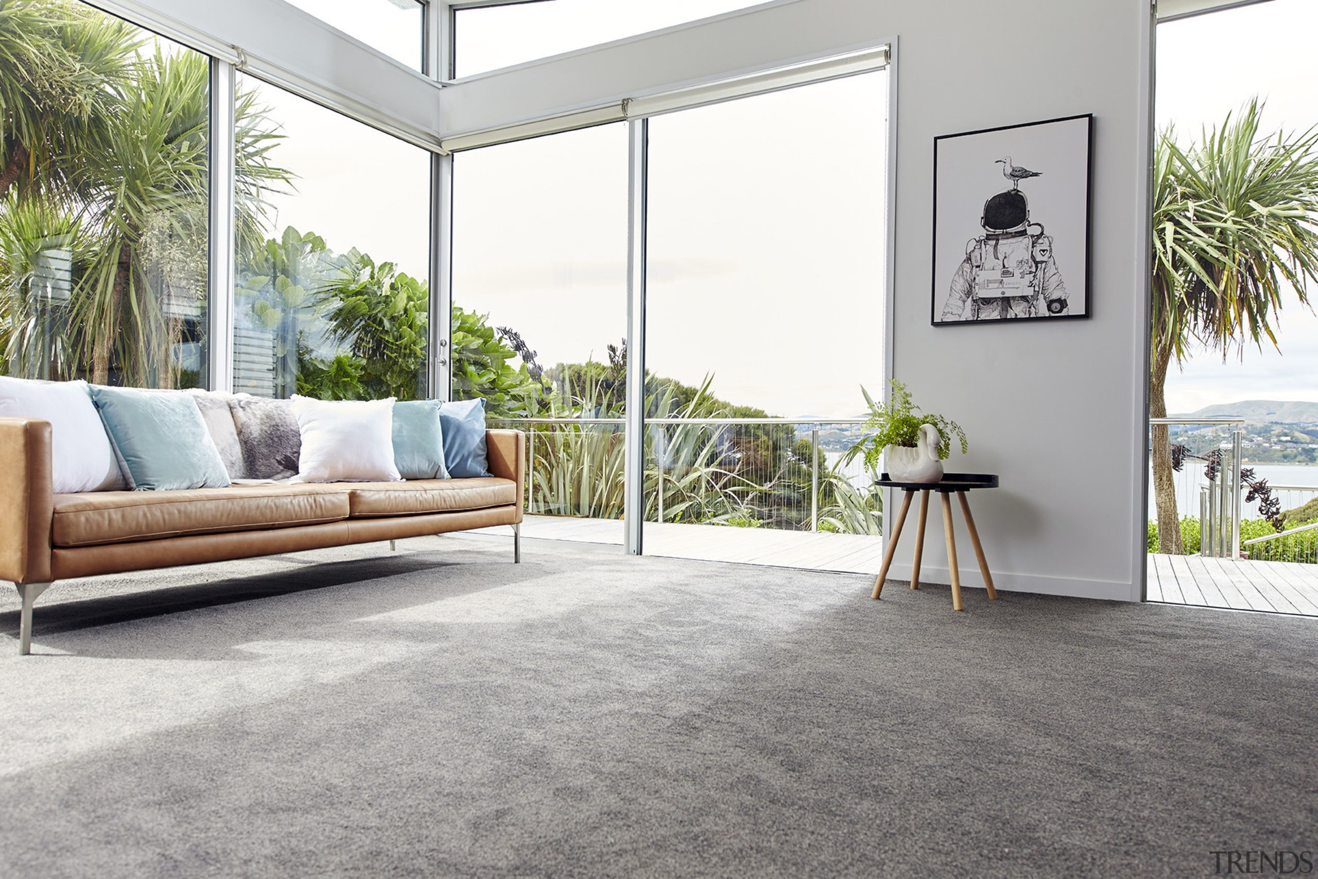 Choose between wool or Solution-dyed Nylon (SDN) carpet.Carpet: door, estate, floor, flooring, furniture, hardwood, home, house, interior design, laminate flooring, living room, property, real estate, table, window, wood, wood flooring, white, gray