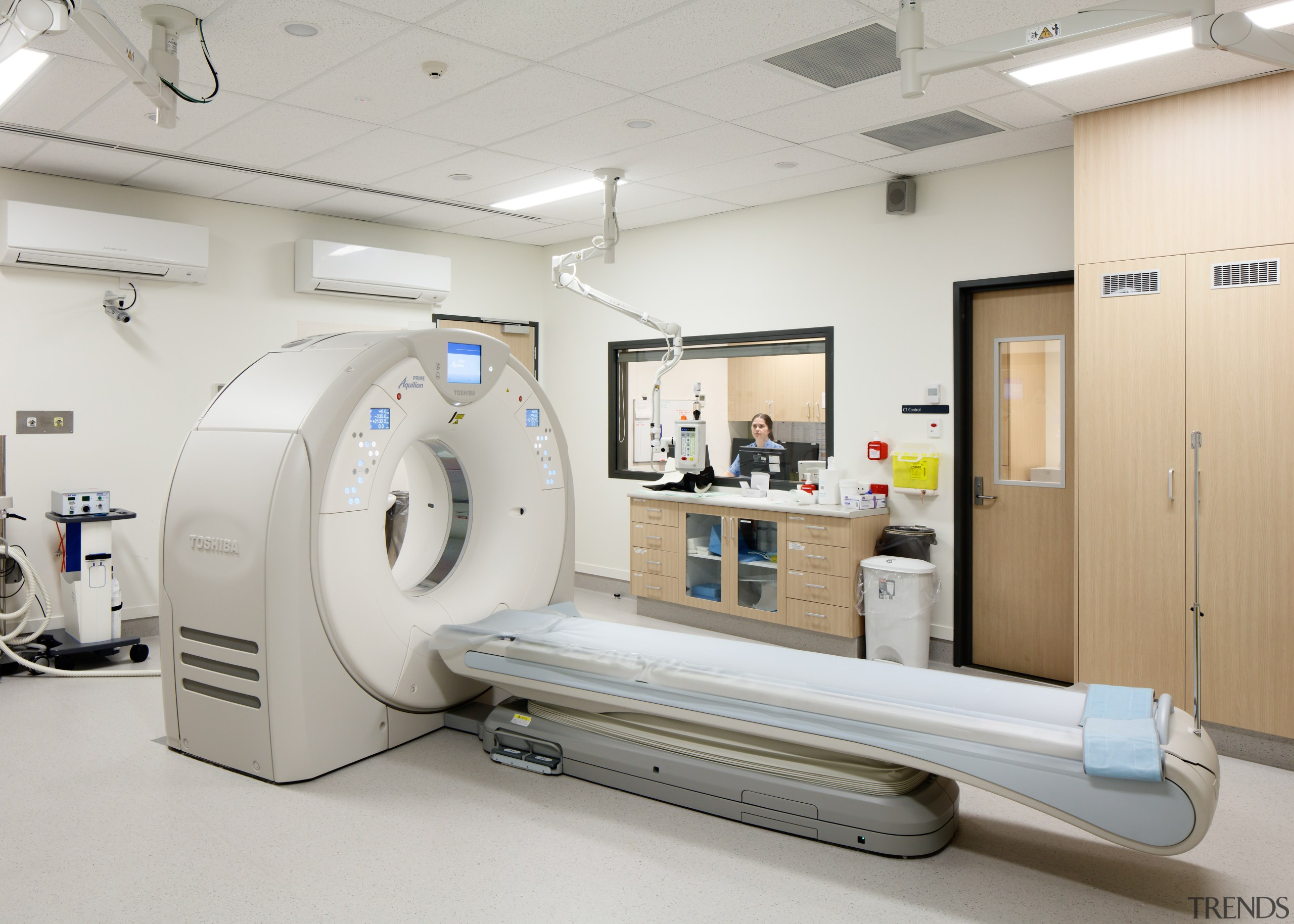 The Radiology Department is on the ground floor hospital, medical, medical equipment, product, product design, service, gray, white