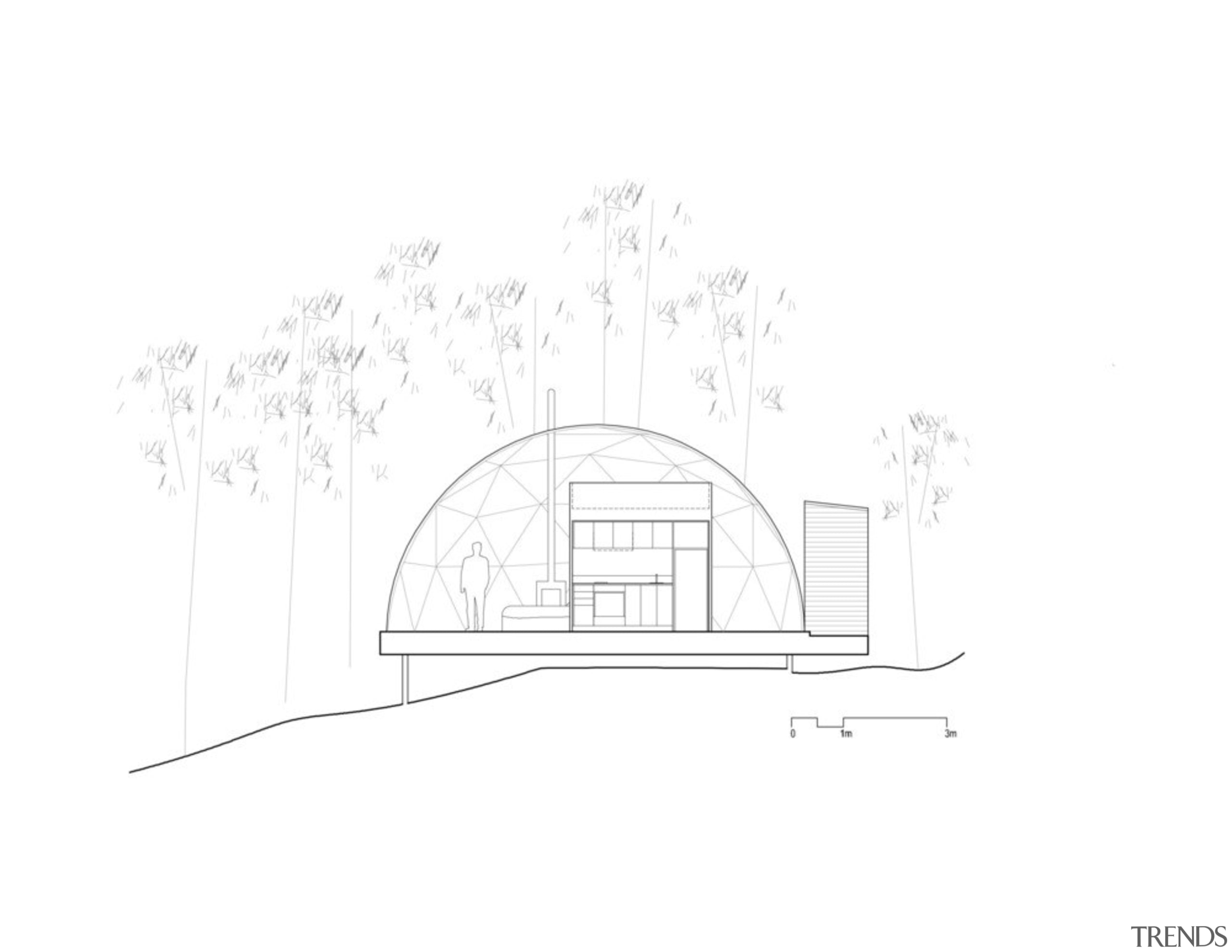 Dome 9A - angle | arch | architecture angle, arch, architecture, area, black and white, design, diagram, drawing, font, line, line art, monochrome, product, sketch, structure, text, white