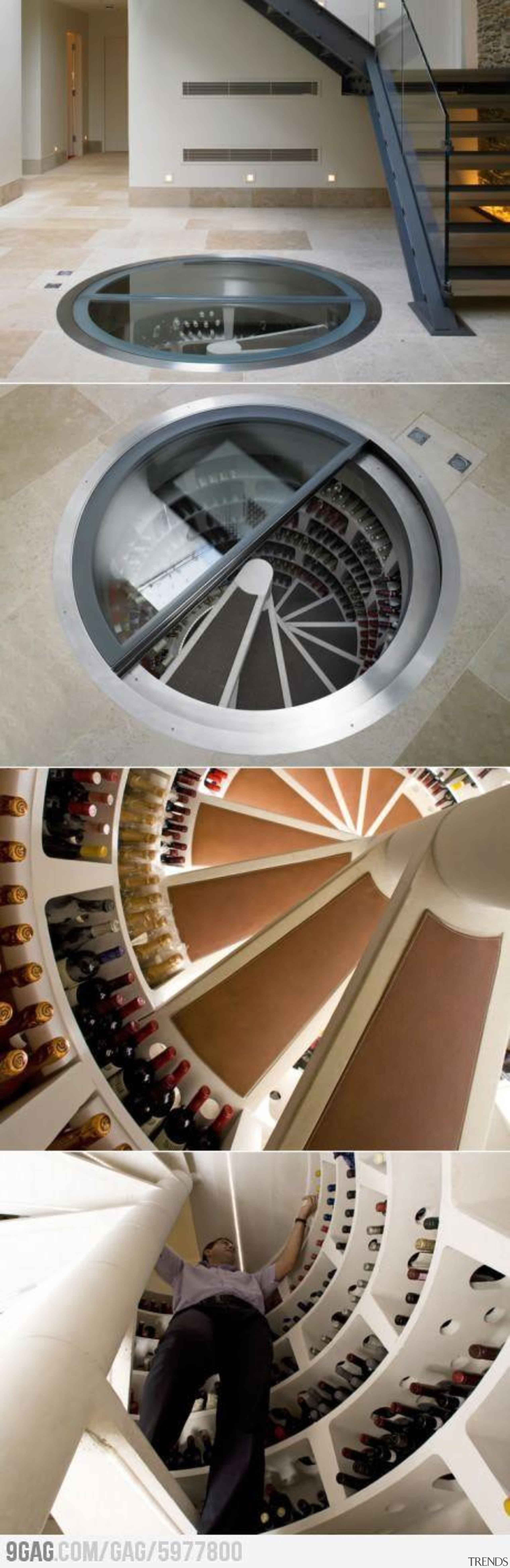 Modern Wine Cellar Ideas - Modern Wine Cellar product design, wheel, gray