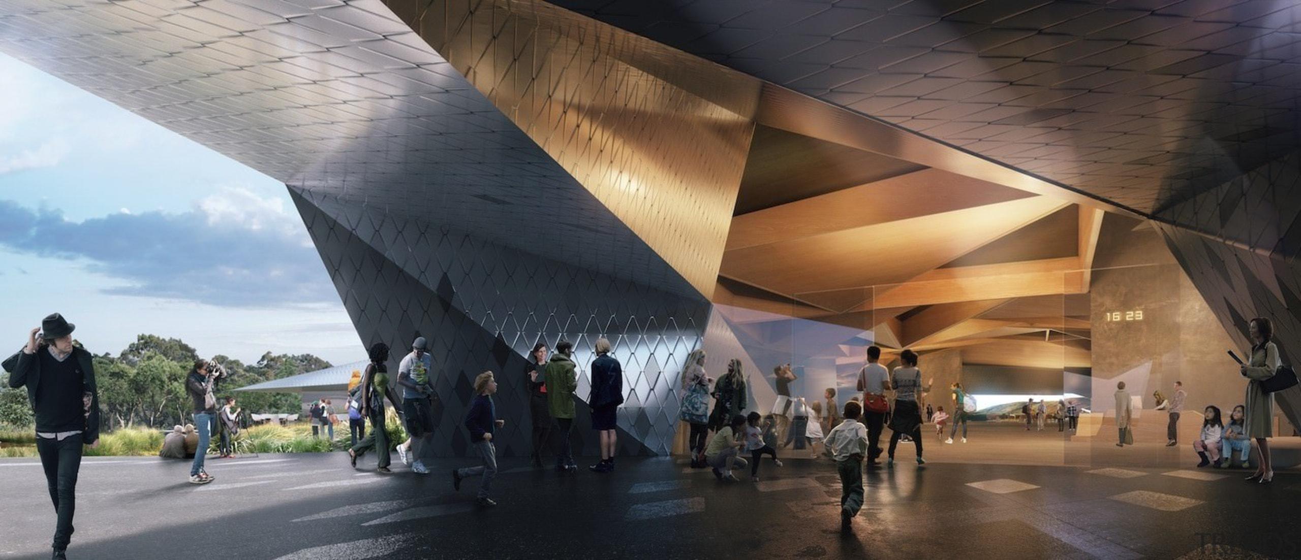 Architect: Terrior architecture, building, pavilion, structure, tourist attraction, black