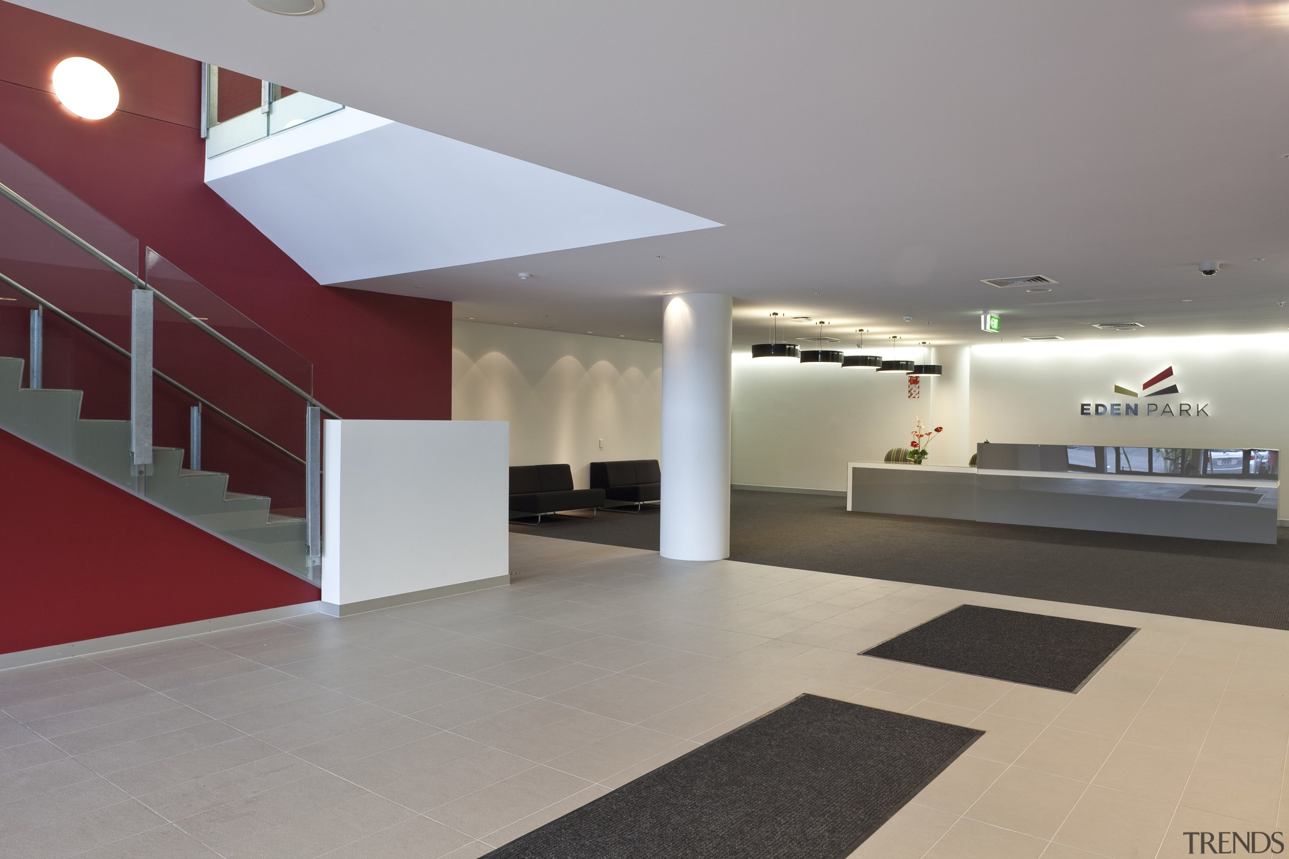 Singer Group undertook the broad array of electrical architecture, ceiling, daylighting, floor, flooring, interior design, lobby, product design, gray