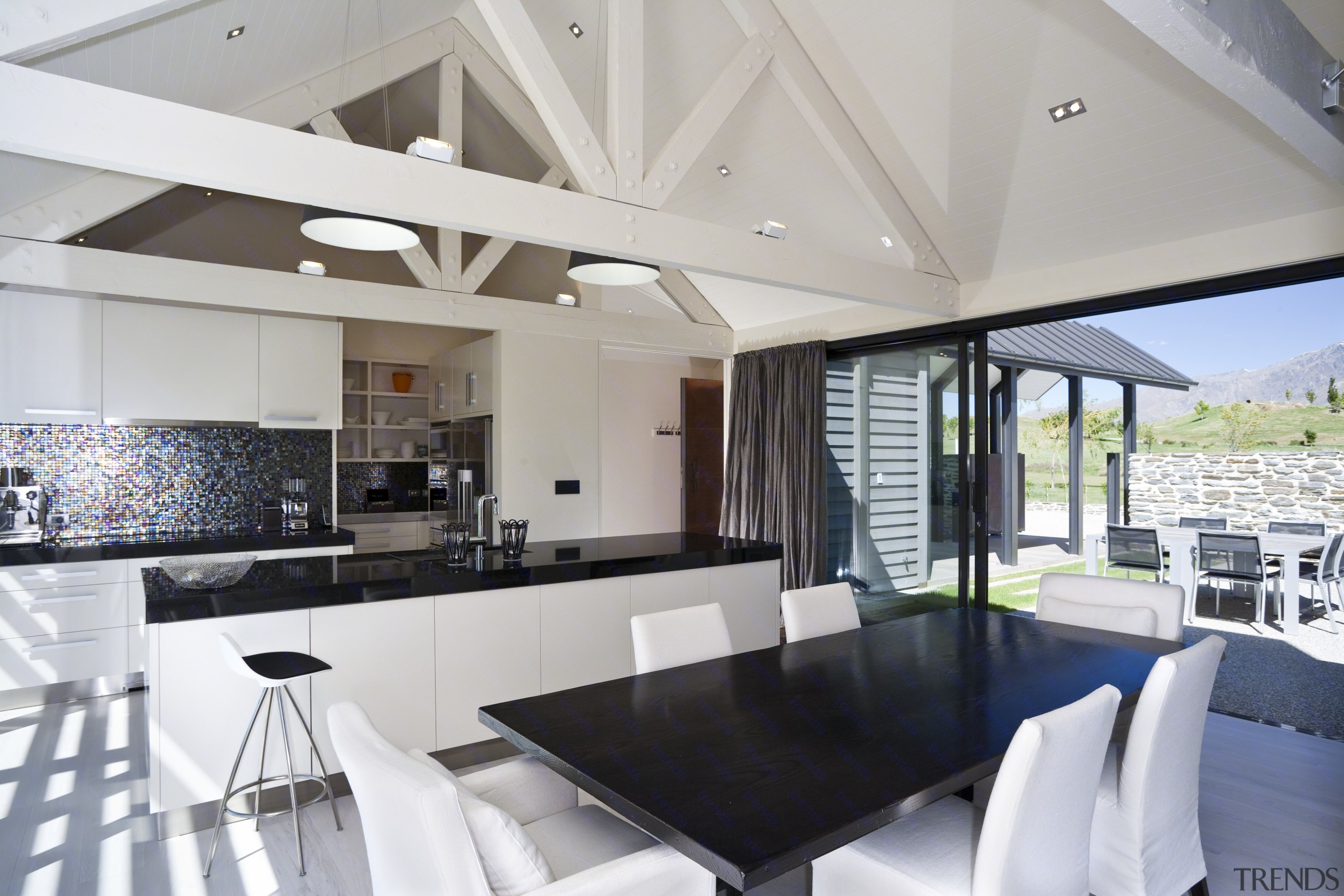 View Of Open Plan Kitchen And Dining Area Which Features Kitchen