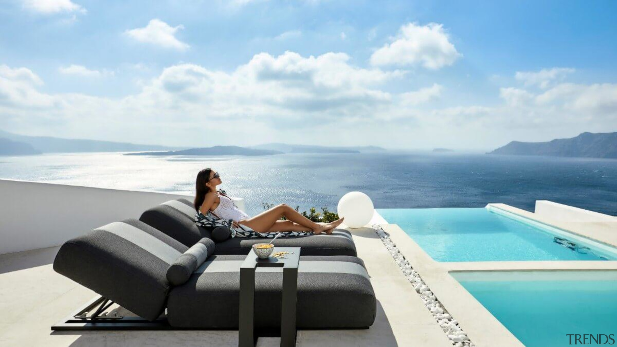 Ensuring you purchase pieces that are fit for caribbean, chaise longue, comfort, couch, furniture, honeymoon, house, interior design, leisure, luxury yacht, ocean, outdoor furniture, property, real estate, resort, room, sea, sky, sunlounger, swimming pool, table, tourism, travel, vacation, white, teal