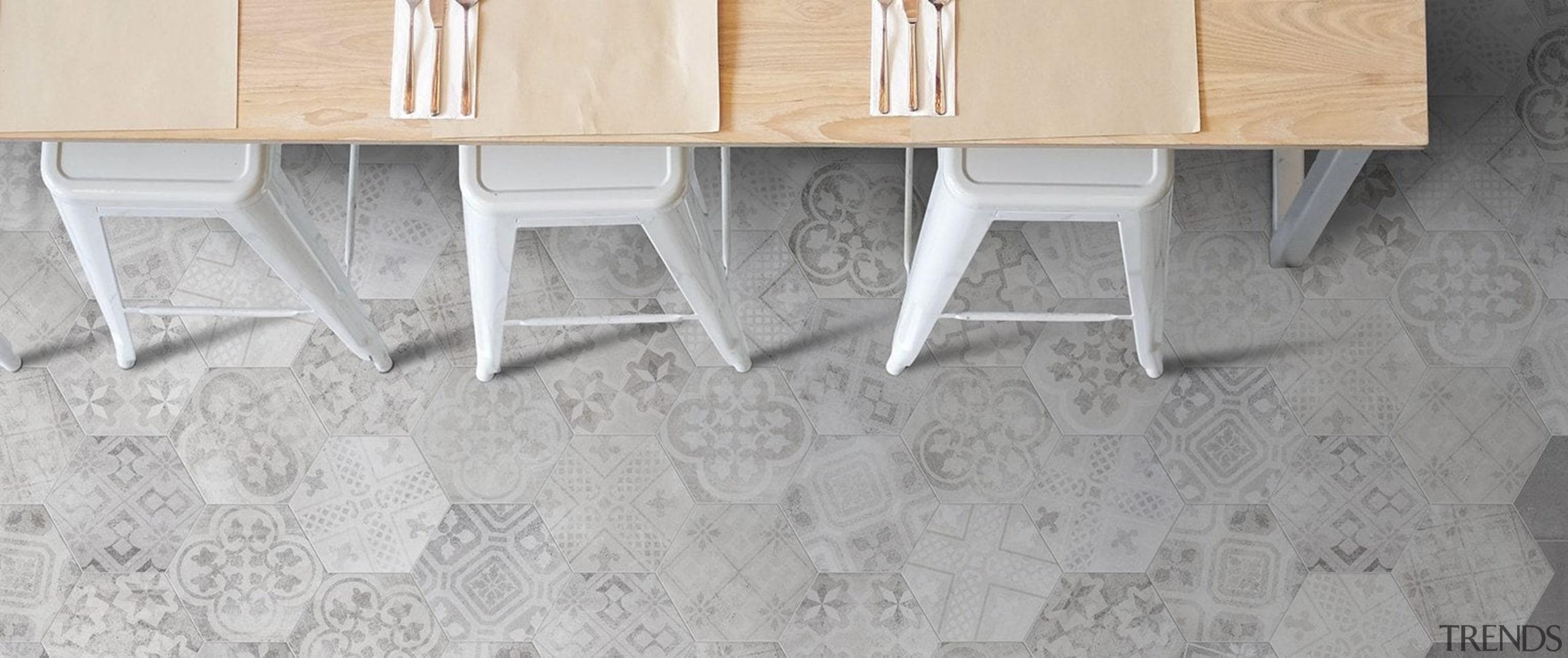 Beton Axis Hexagona Deco Mix 210x182 - Beton floor, flooring, furniture, table, tile, wall, wood, gray