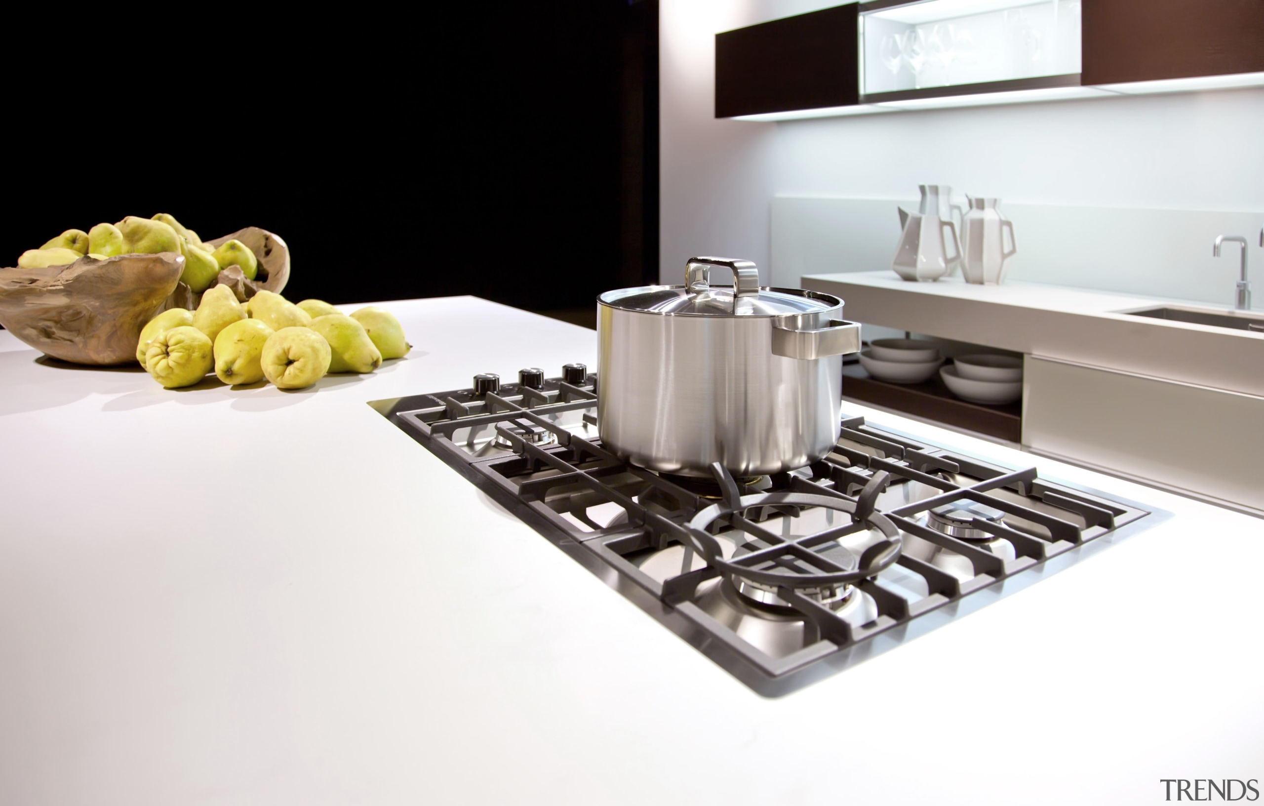 High-end Midea appliances like this chunky gas cooktop countertop, kitchen, product, product design, table, white