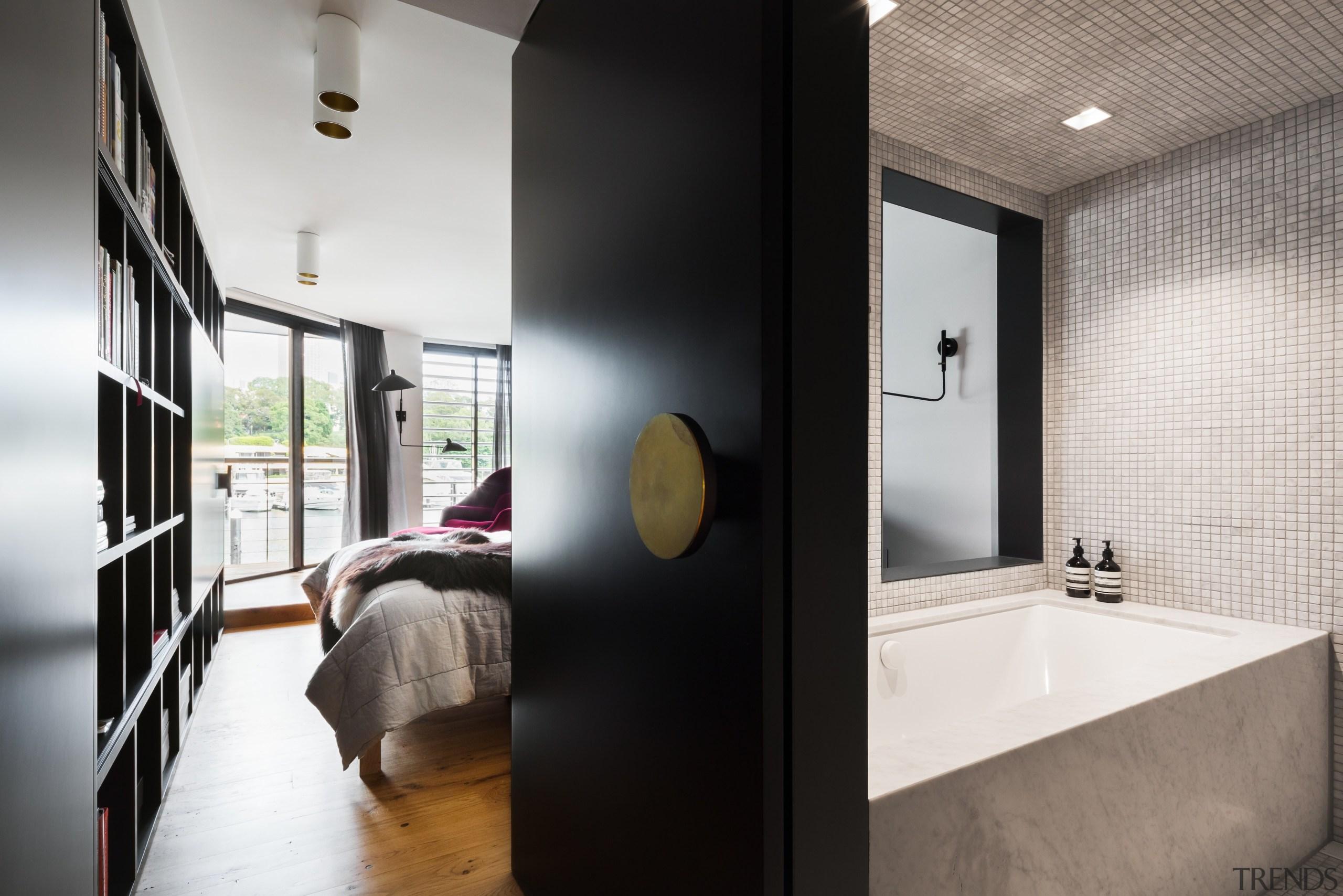 Winner Bathroom Suite – Architect Prineas - architecture architecture, bathroom, ceiling, home, house, interior design, room, white, black