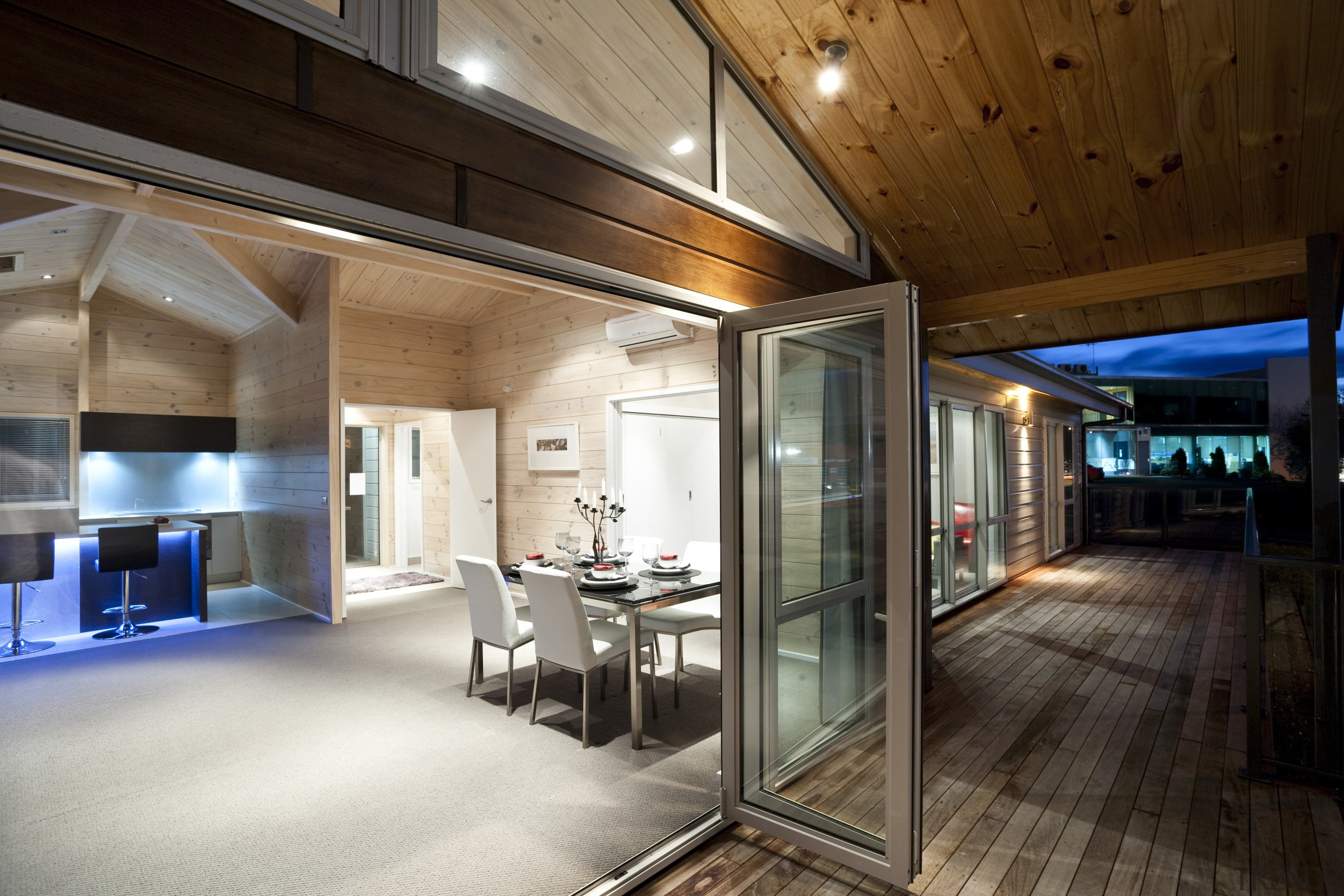 Interior view of this modern home - Interior architecture, ceiling, house, interior design, lobby, real estate, wood, brown