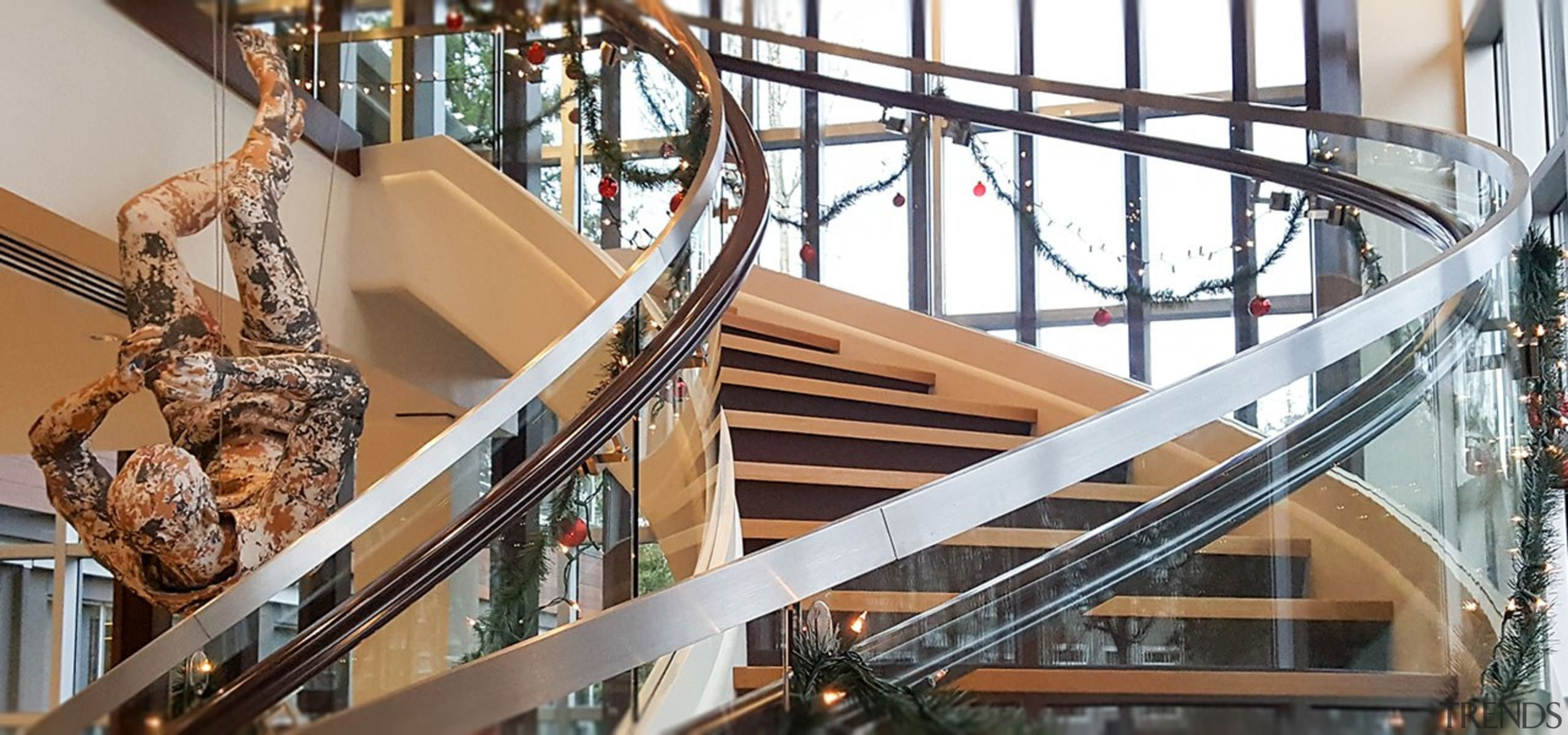 Aegis Living 01 - architecture   baluster   architecture, baluster, building, daylighting, handrail, iron, metal, stairs, steel, wood, white