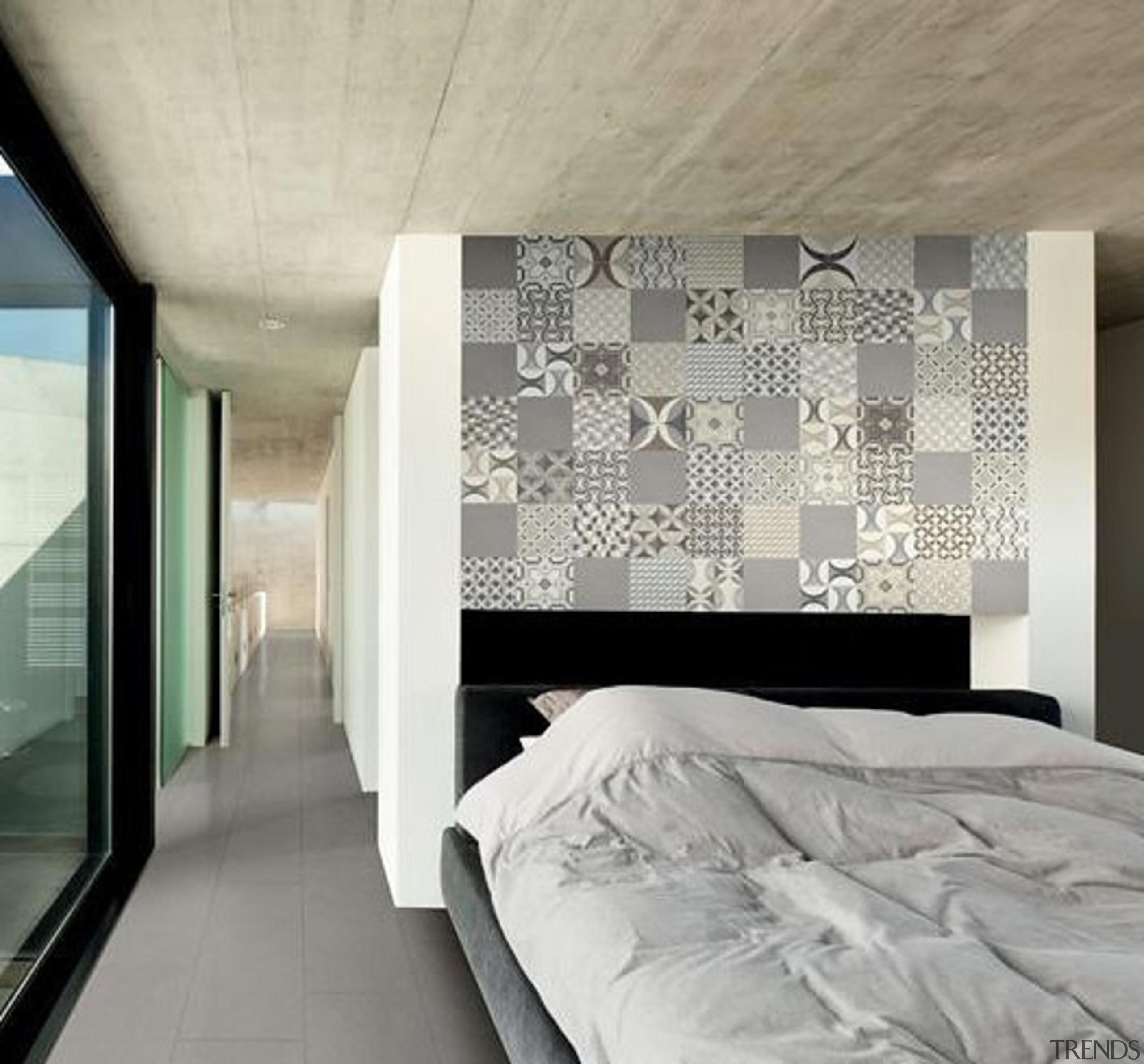Mix Cementine 200x200 - Mix Cementine 200x200 - architecture, bed frame, ceiling, floor, interior design, wall, window, gray