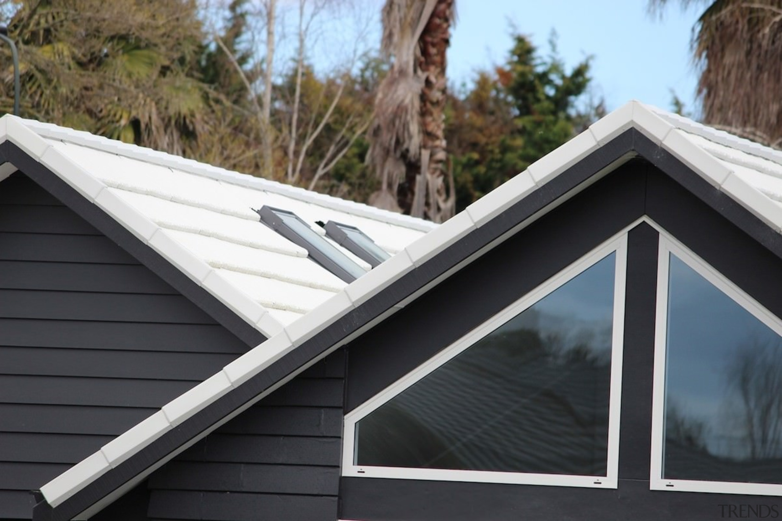 Metrotile metal panels - Metrotile metal panels - daylighting, facade, house, outdoor structure, roof, siding, window, black