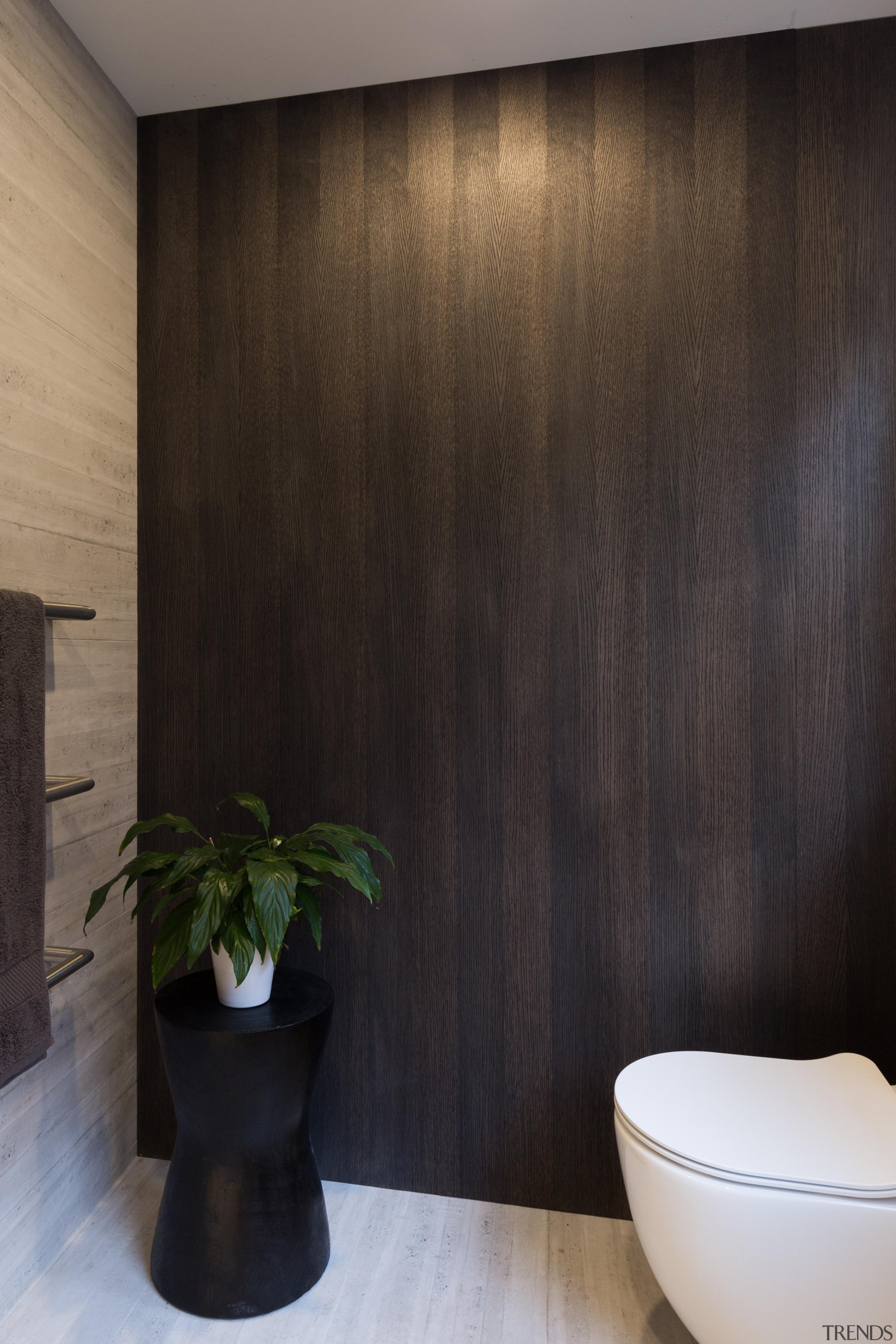 A timber oak veneer feature wall ties in bathroom, ceiling, floor, flooring, interior design, tile, wall, wood, black