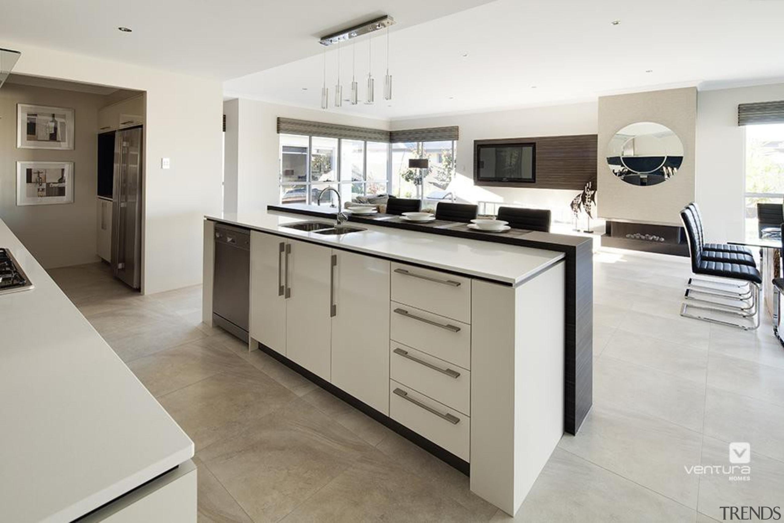 Kitchen design. - The Sentosa Display Home - cabinetry, countertop, cuisine classique, floor, interior design, kitchen, property, real estate, room, white