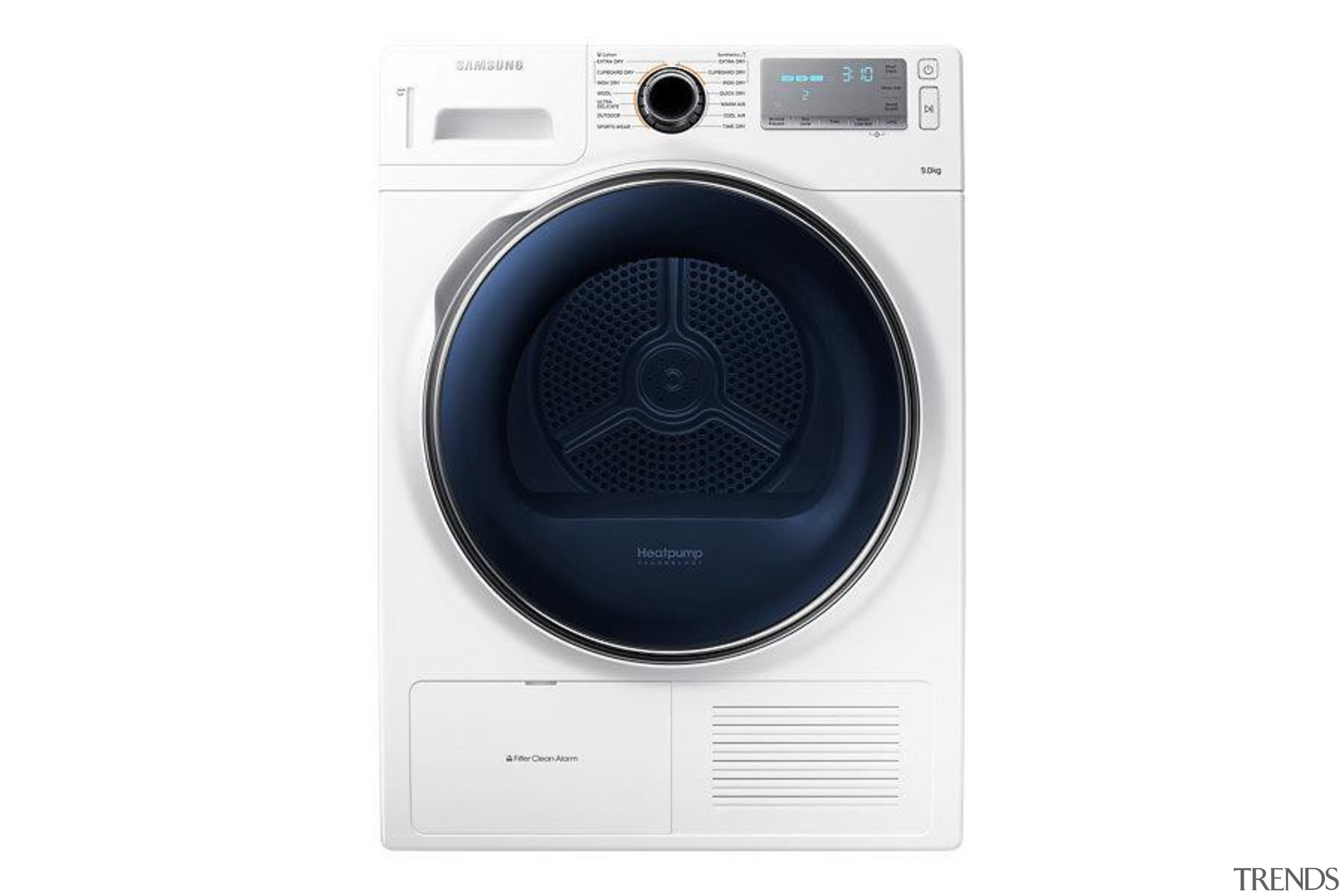 Laundry- Dryer DV90H8000HW/SADesigned to look as good as clothes dryer, electronics, home appliance, major appliance, product, product design, sound box, white