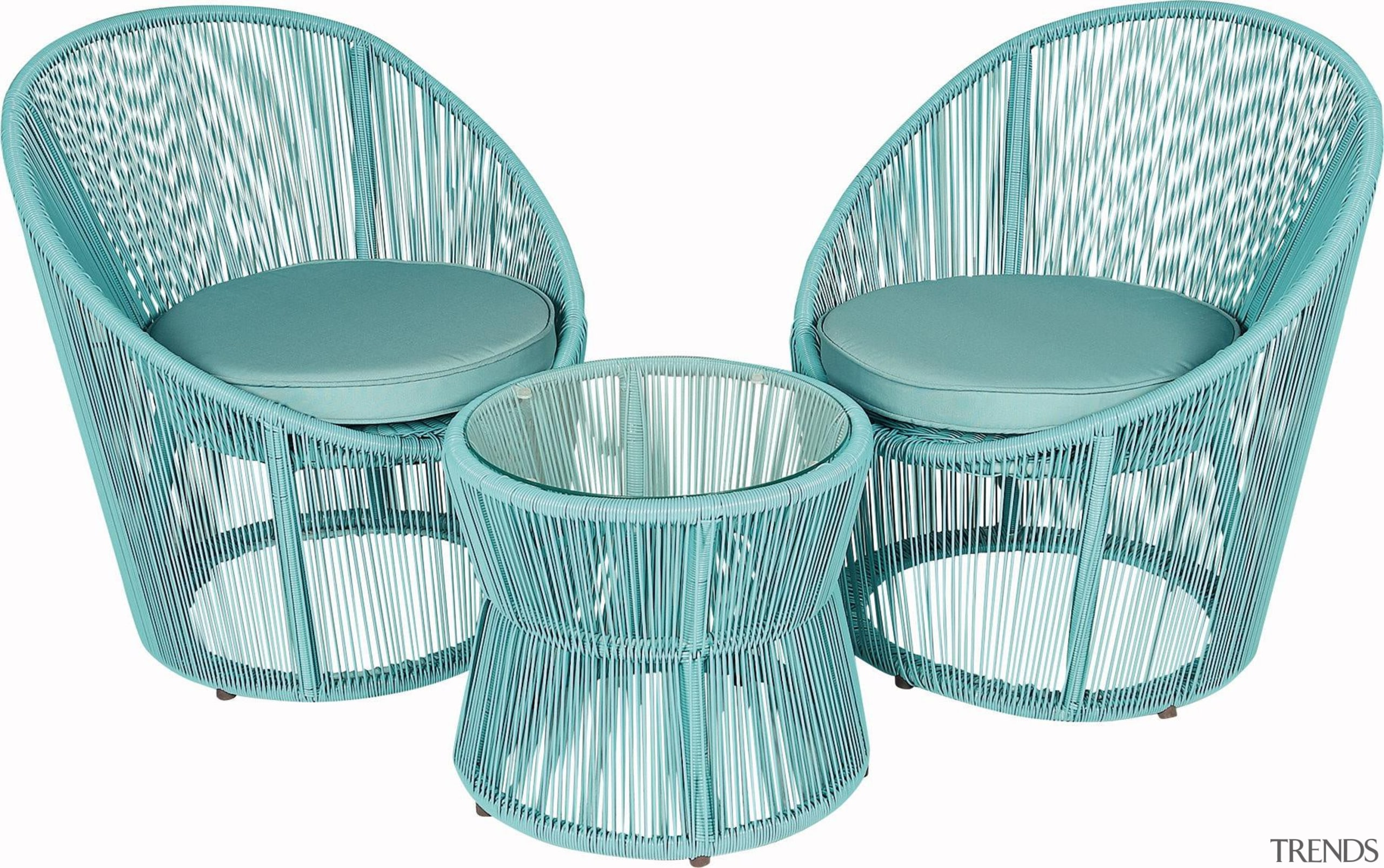 There's nothing quite like a Kiwi summer – chair, furniture, product, product design, wicker, white, teal