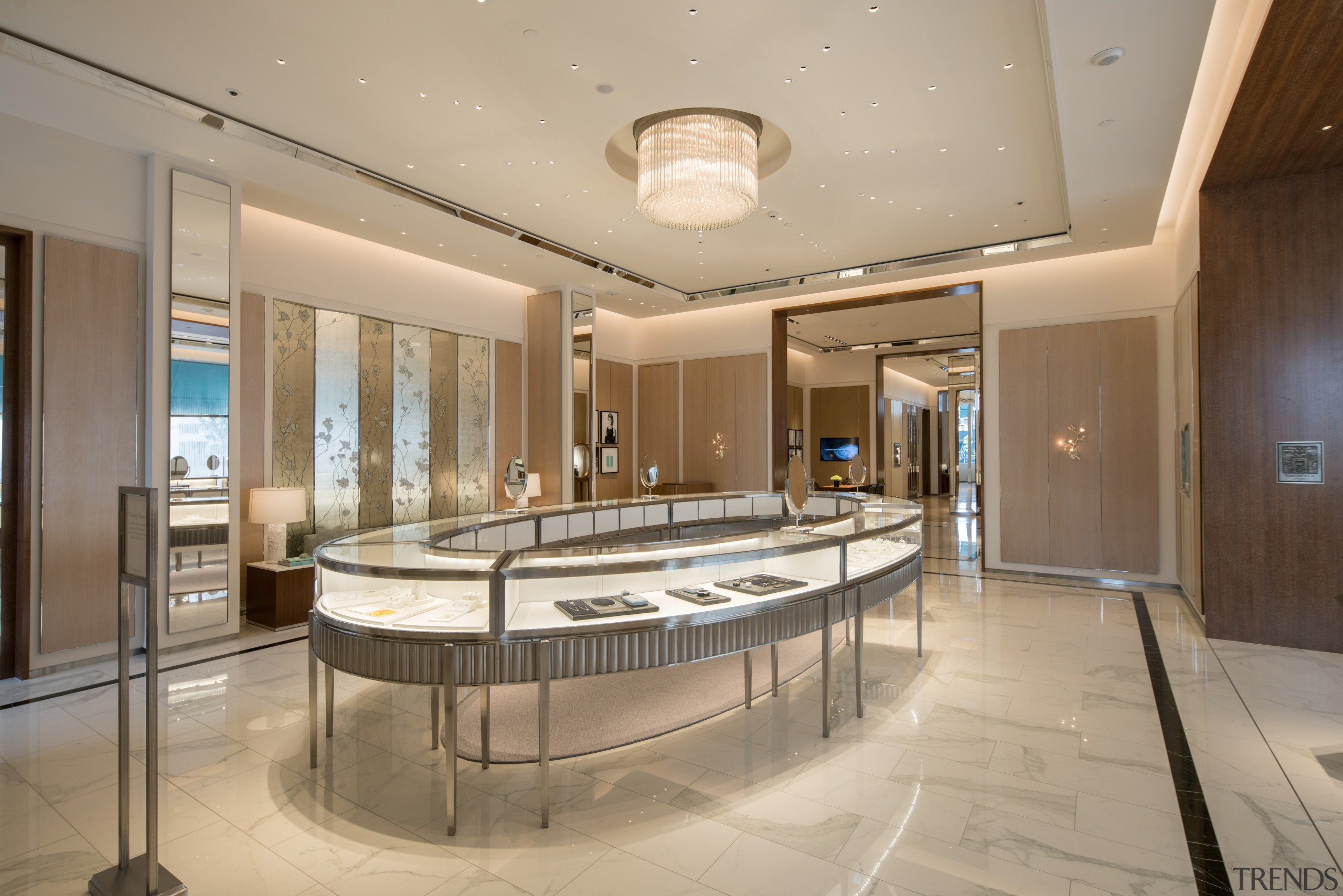 :Successful retail developments manage to combine a mix ceiling, estate, interior design, lobby, real estate, orange, brown