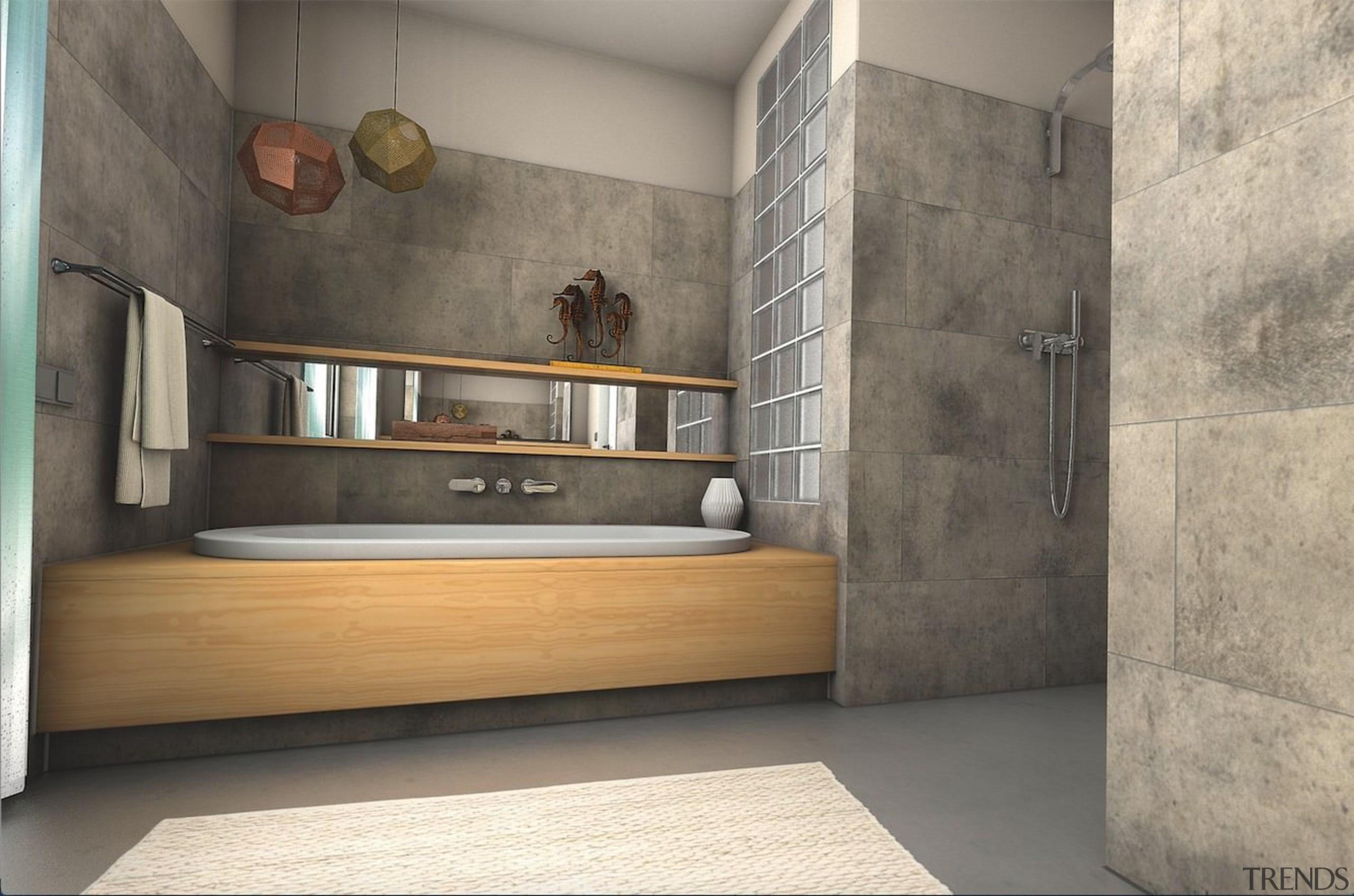 Want a bathroom upgrade? - Want a bathroom floor, flooring, interior design, tile, wall, gray
