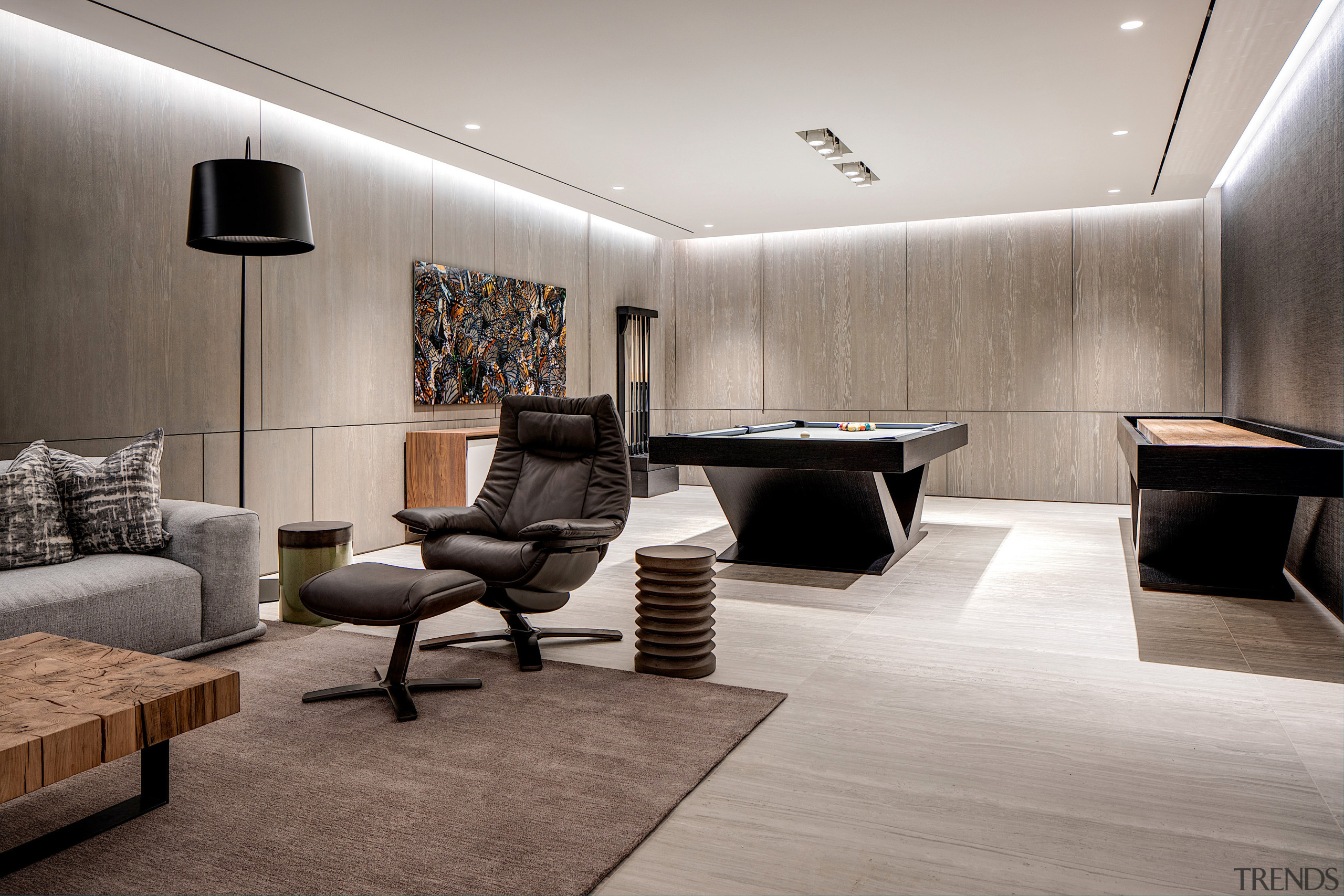 The larger, dramatic spaces are balanced by intimate