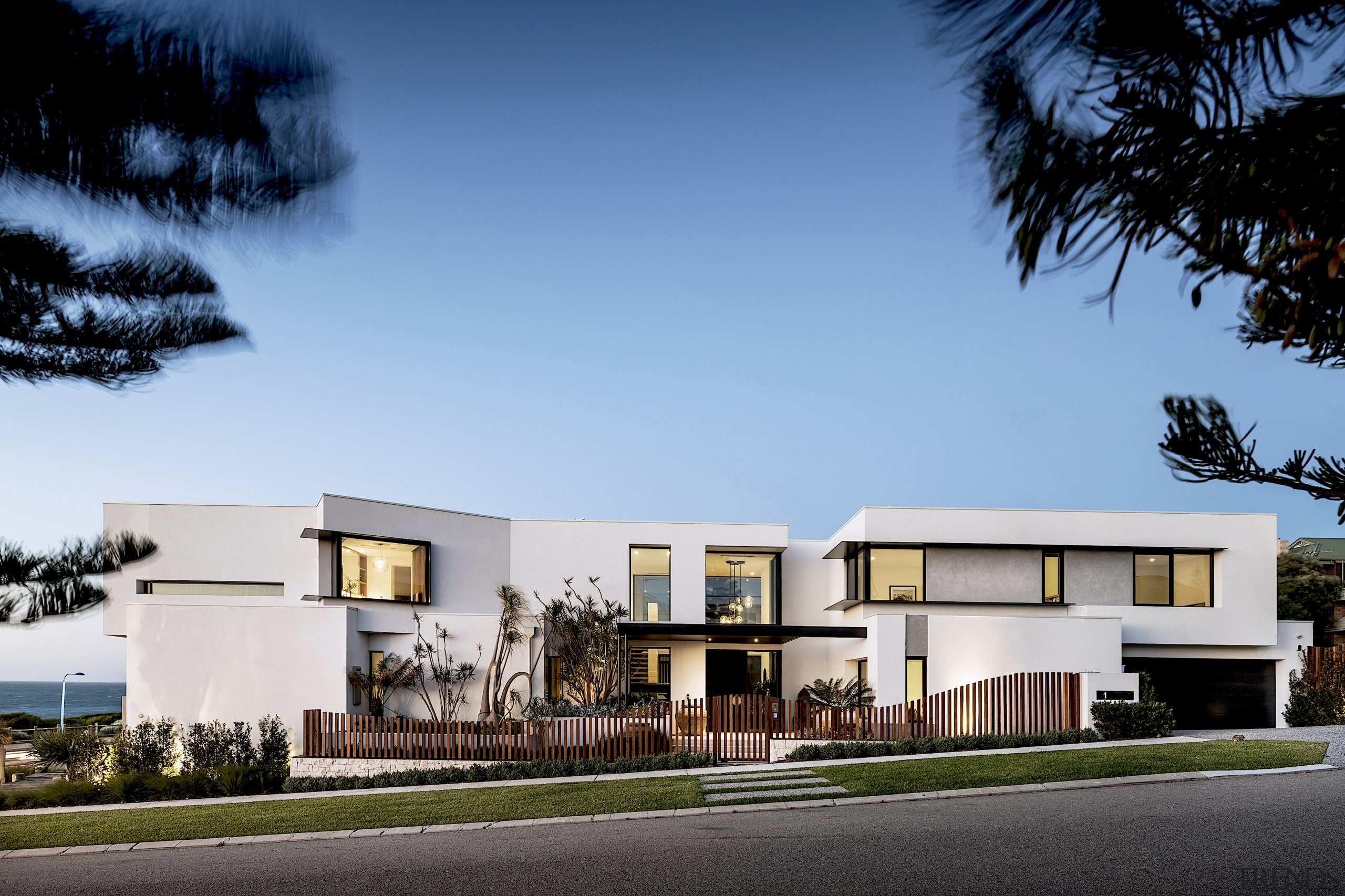 Given the sloping site, the house is three-levels