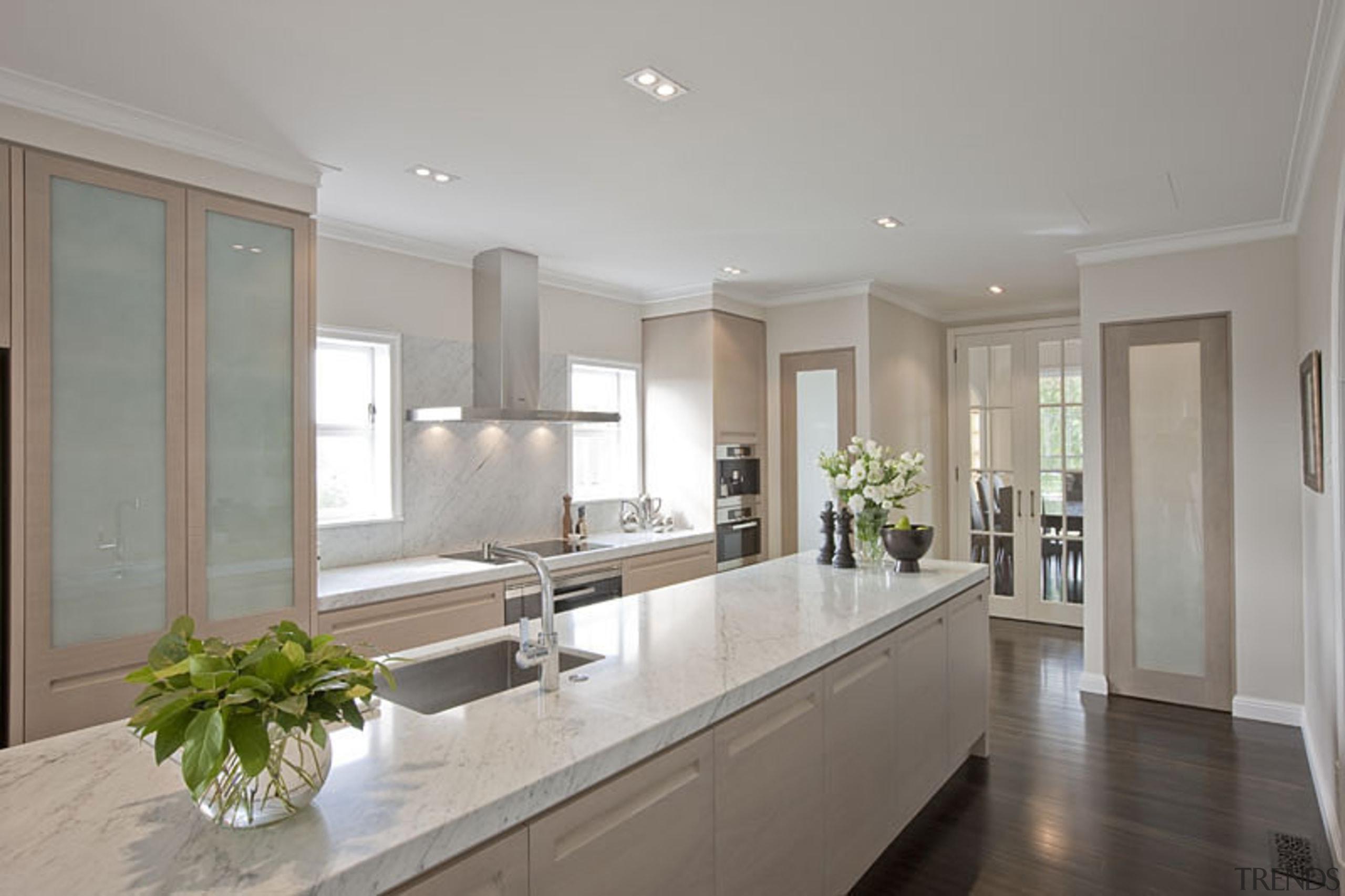 Remuera - countertop | cuisine classique | estate countertop, cuisine classique, estate, home, interior design, kitchen, property, real estate, room, window, gray