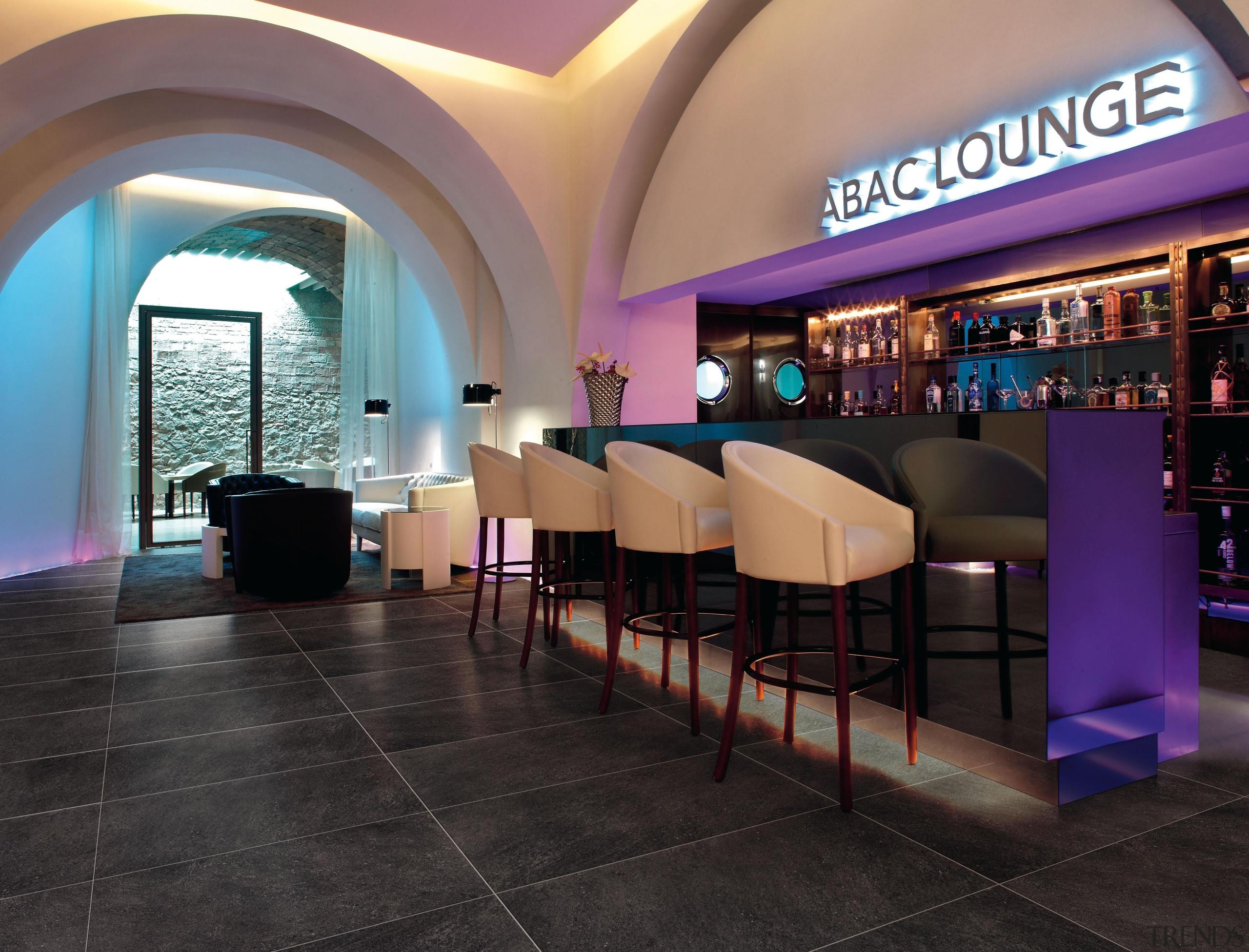 Antracite bar floor. - Riviera Range - interior interior design, lobby, restaurant, black