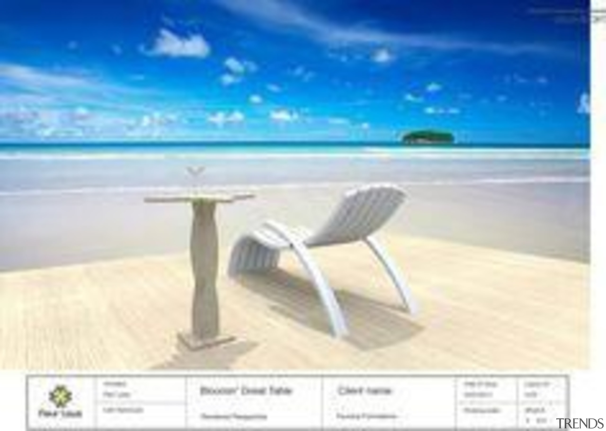 by Fleur Laws - Bloomin Great Table - furniture, outdoor furniture, product design, sky, sunlounger, table, vacation, white