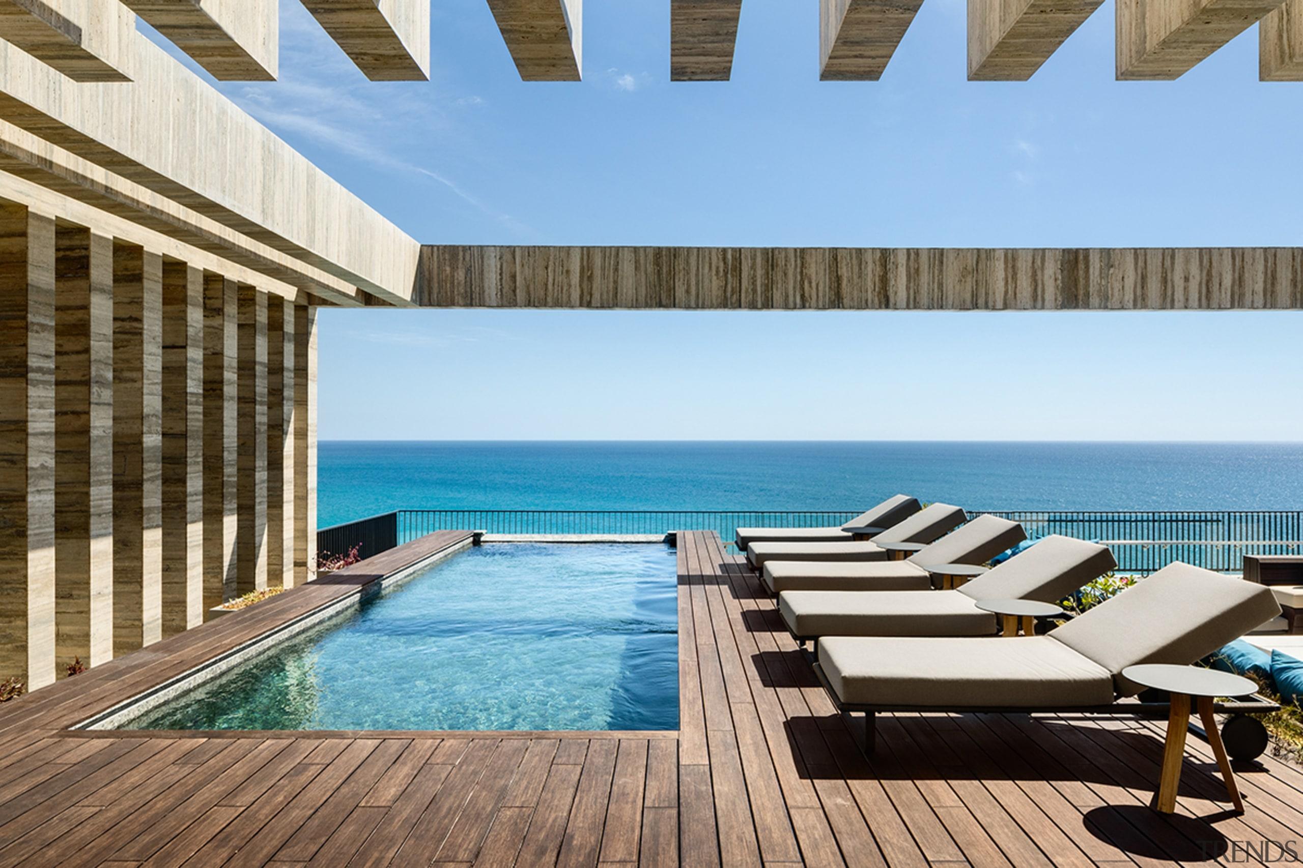 Apartment terrace at San José del Cabo Hotel. teal