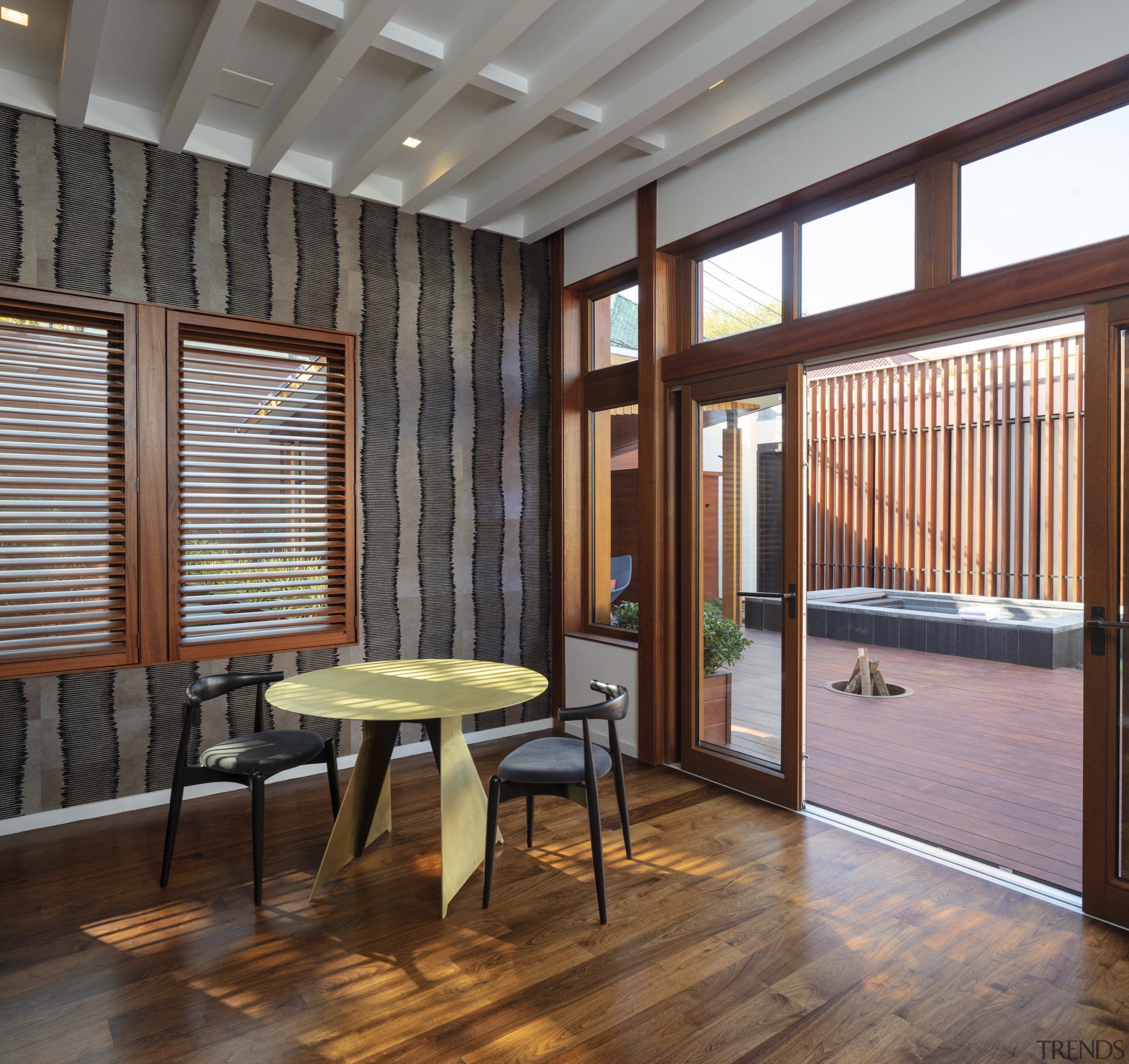 The generous main living space opens to the