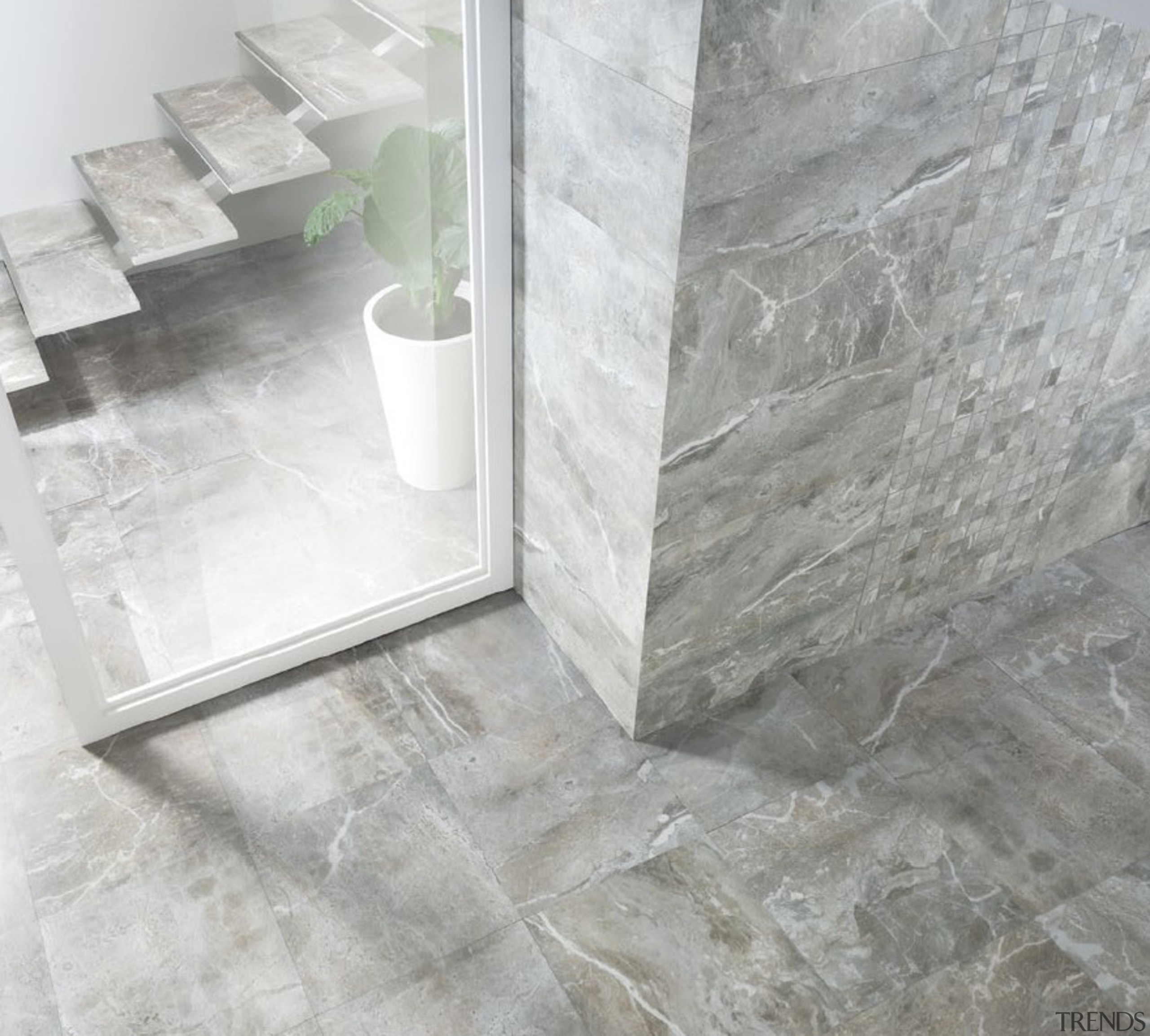 Frost thrill tile la fabbrica floor tiles - floor, flooring, tile, wall, gray