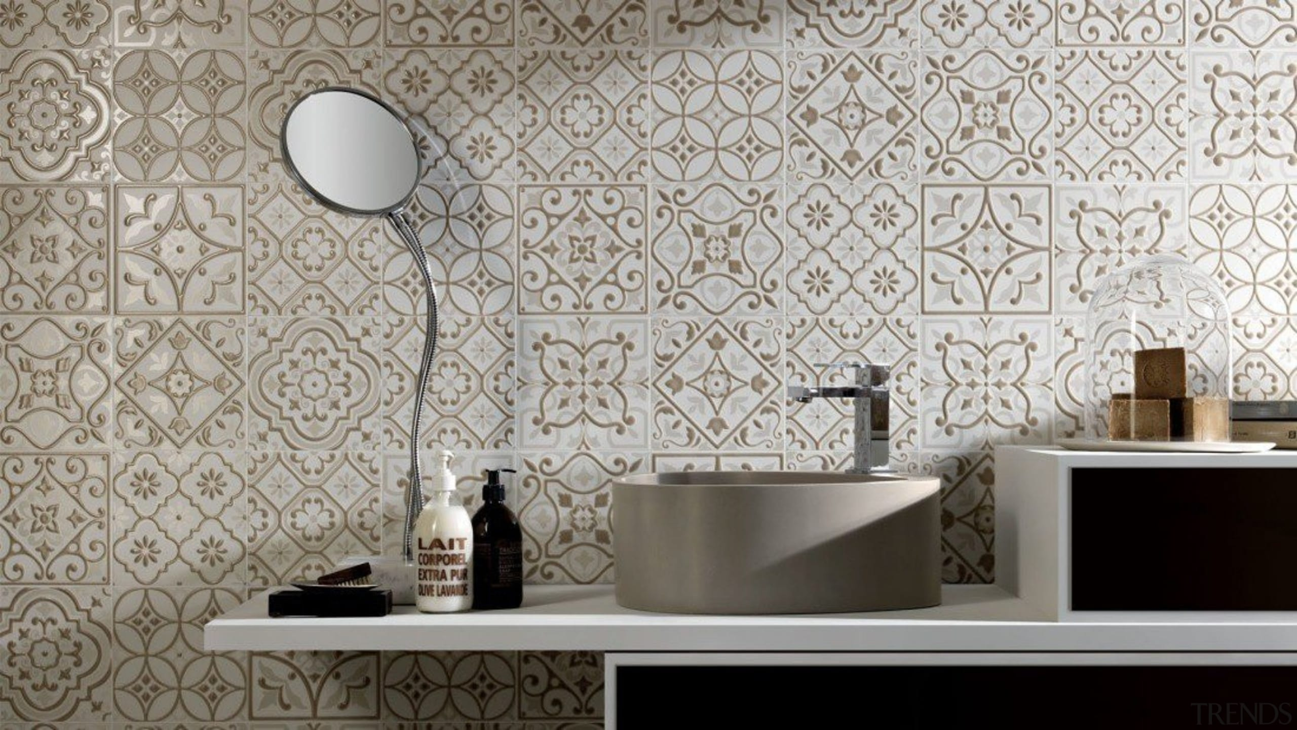 City Glamour - City Glamour - bathroom | bathroom, ceramic, floor, flooring, interior design, product design, tap, tile, wall, wallpaper, gray