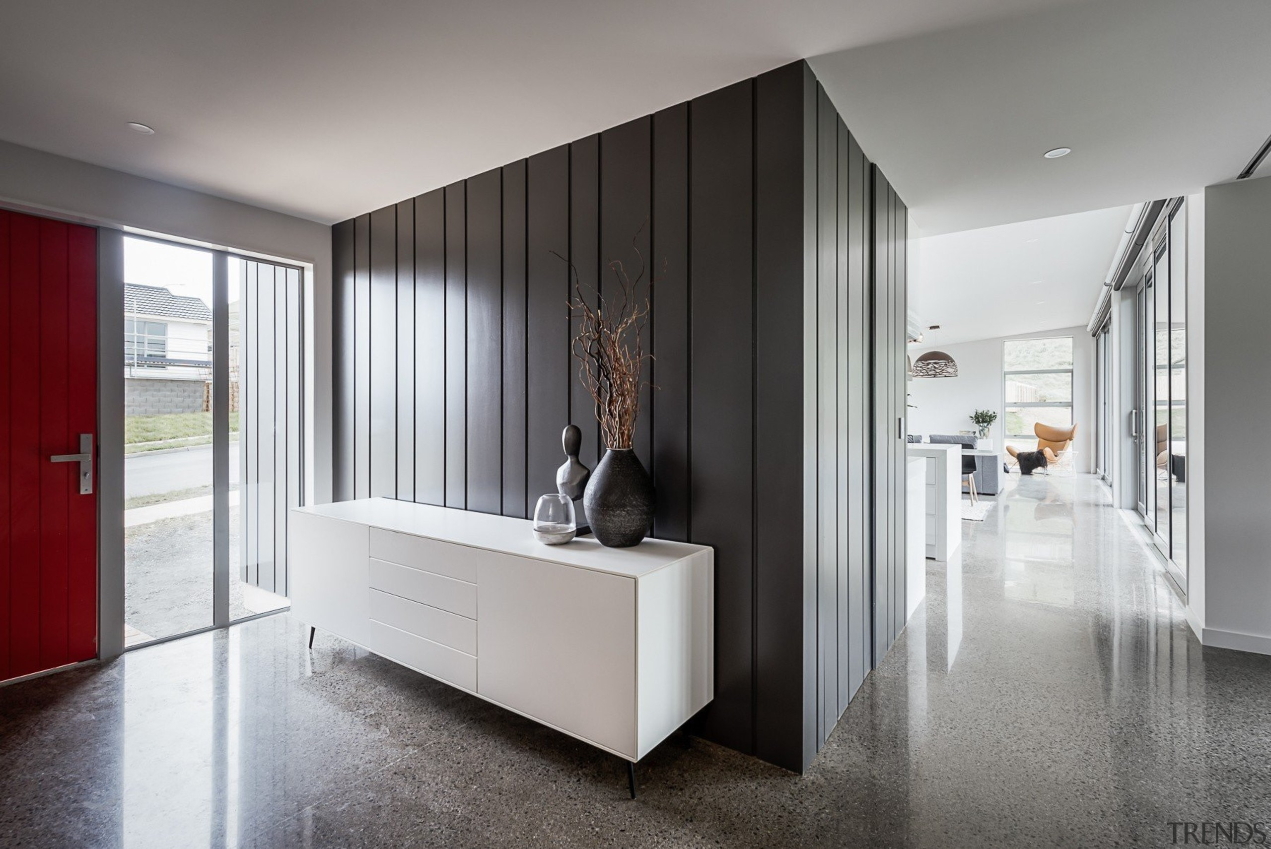 Linea Oblique Weatherboard - Linea Oblique Weatherboard - ceiling, floor, flooring, furniture, interior design, gray
