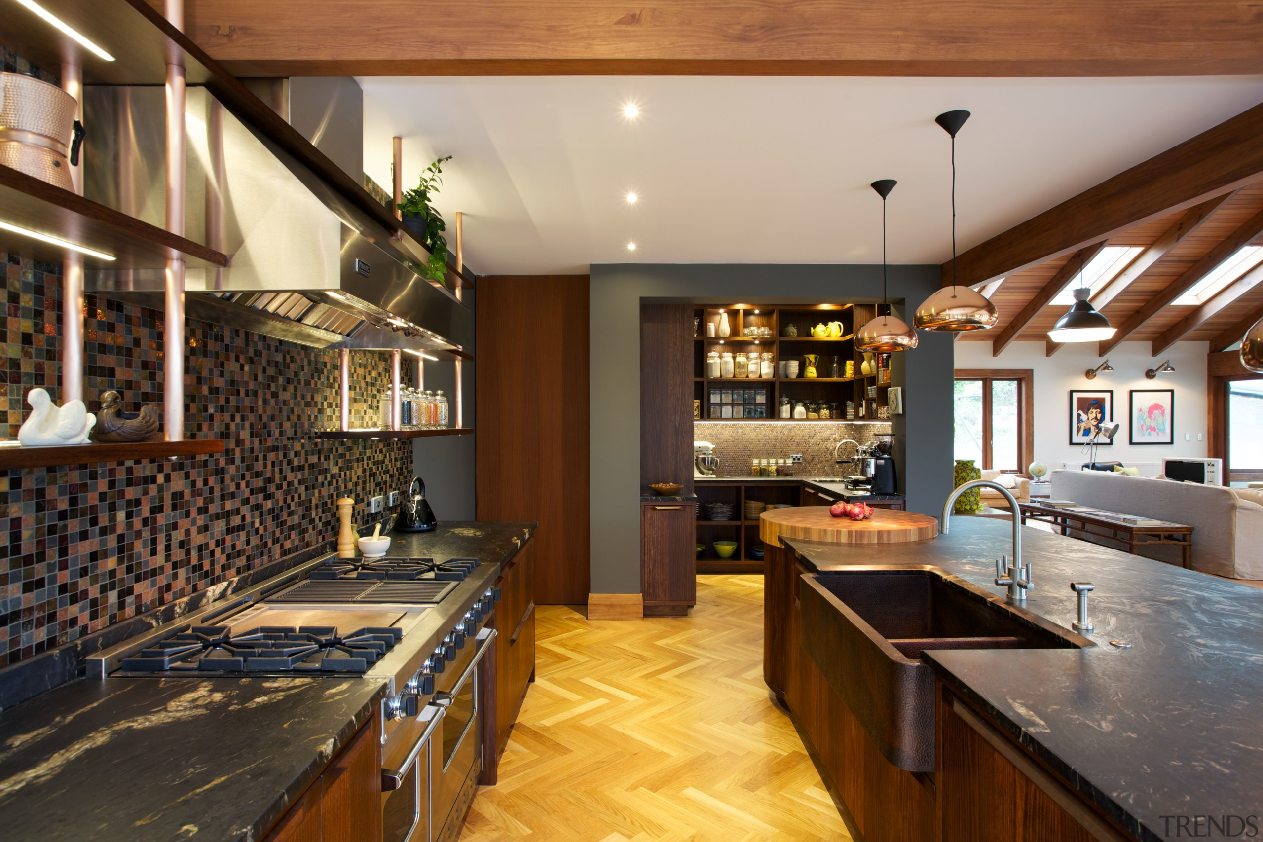 Natalie Du Bois kitchen evokes the textured look countertop, interior design, kitchen, real estate, room, brown