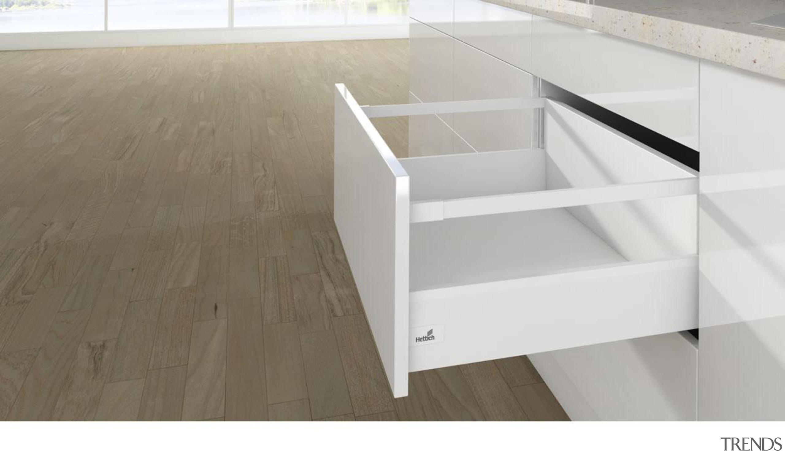 Lengthwise railing - Lengthwise railing - drawer | drawer, floor, furniture, plywood, product, product design, table, white