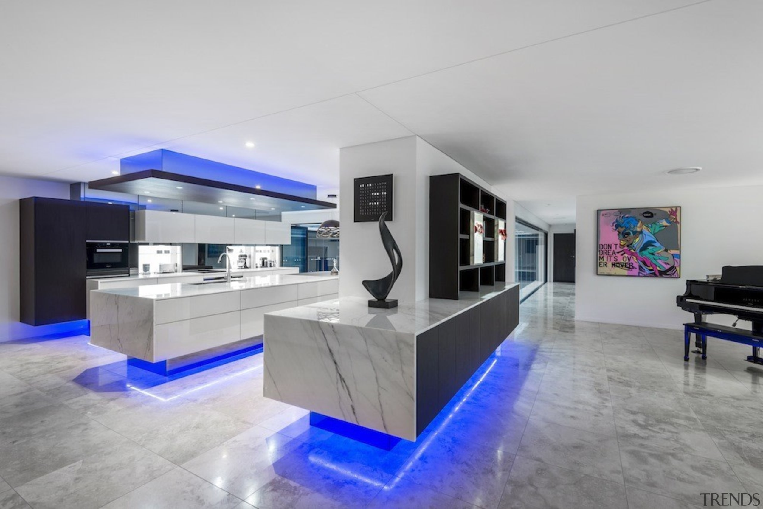 A focus on lighting – Kitchen by designer architecture, interior design, living room, property, real estate, gray